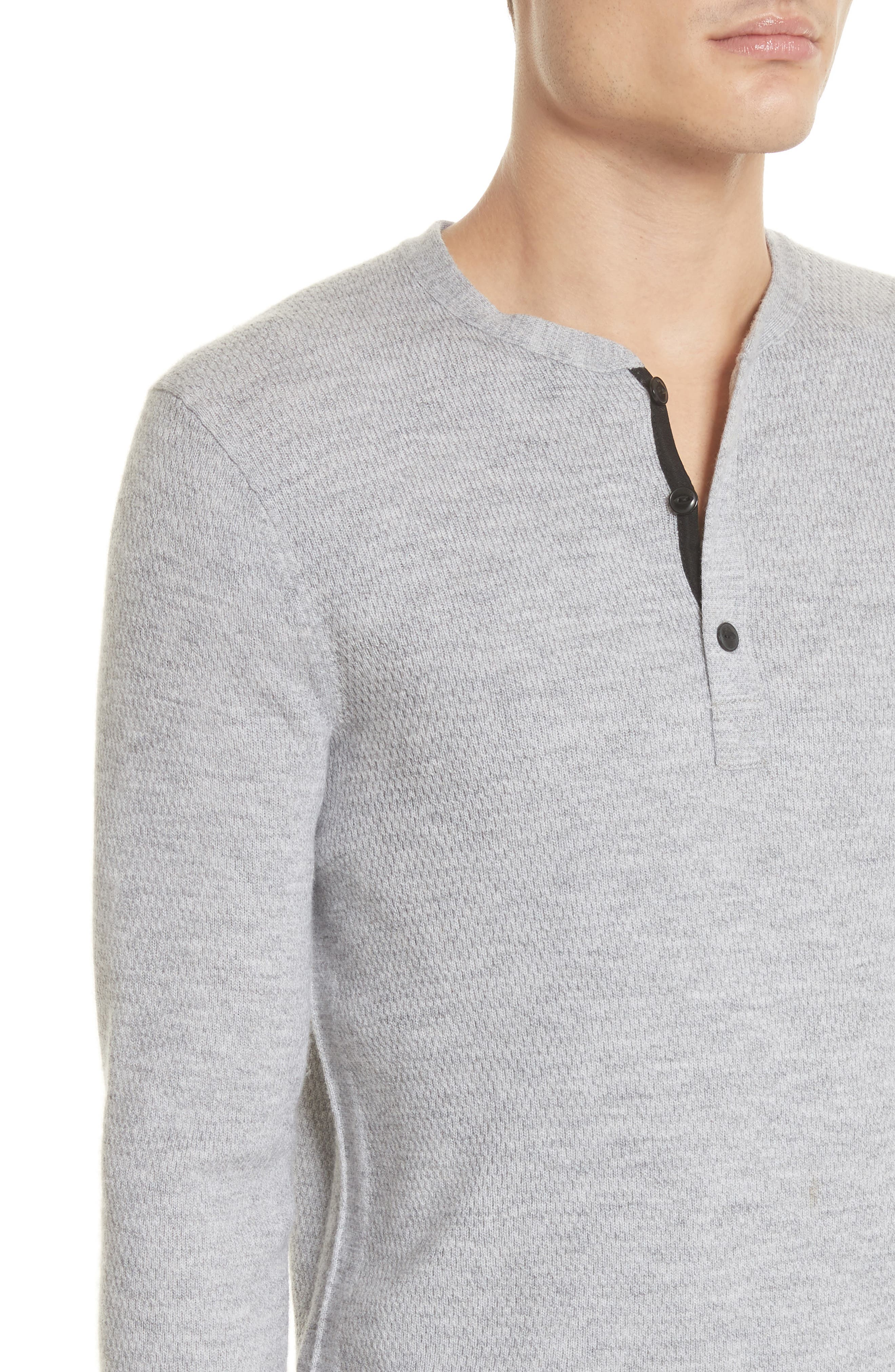 Gregory Wool Blend Thermal Henley,                             Alternate thumbnail 4, color,                             Grey