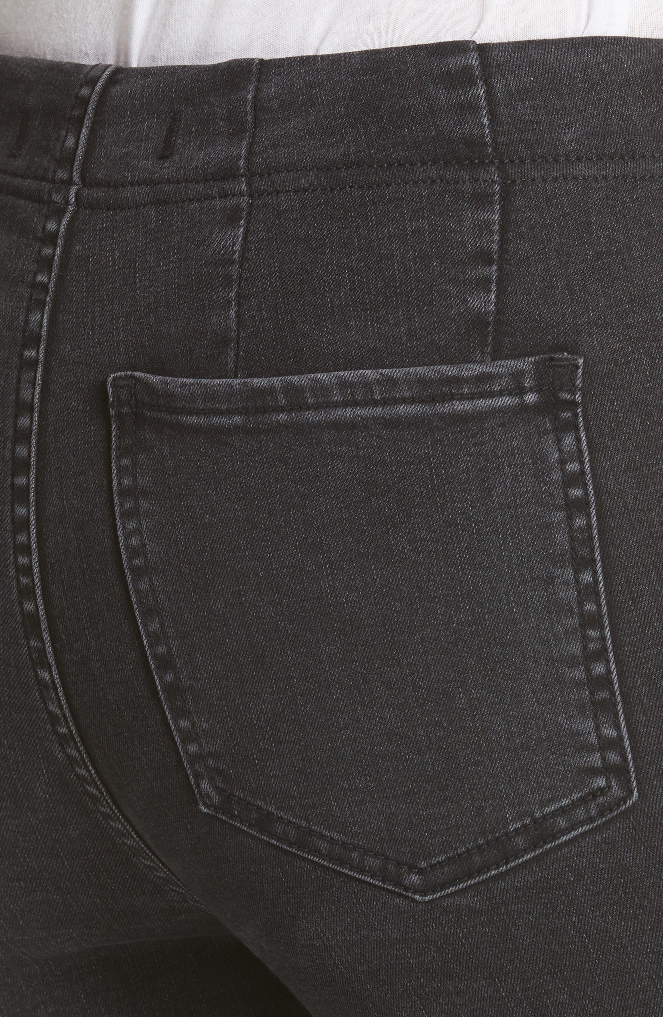 Ultra High Waist Crop Bootcut Jeans,                             Alternate thumbnail 4, color,                             Black