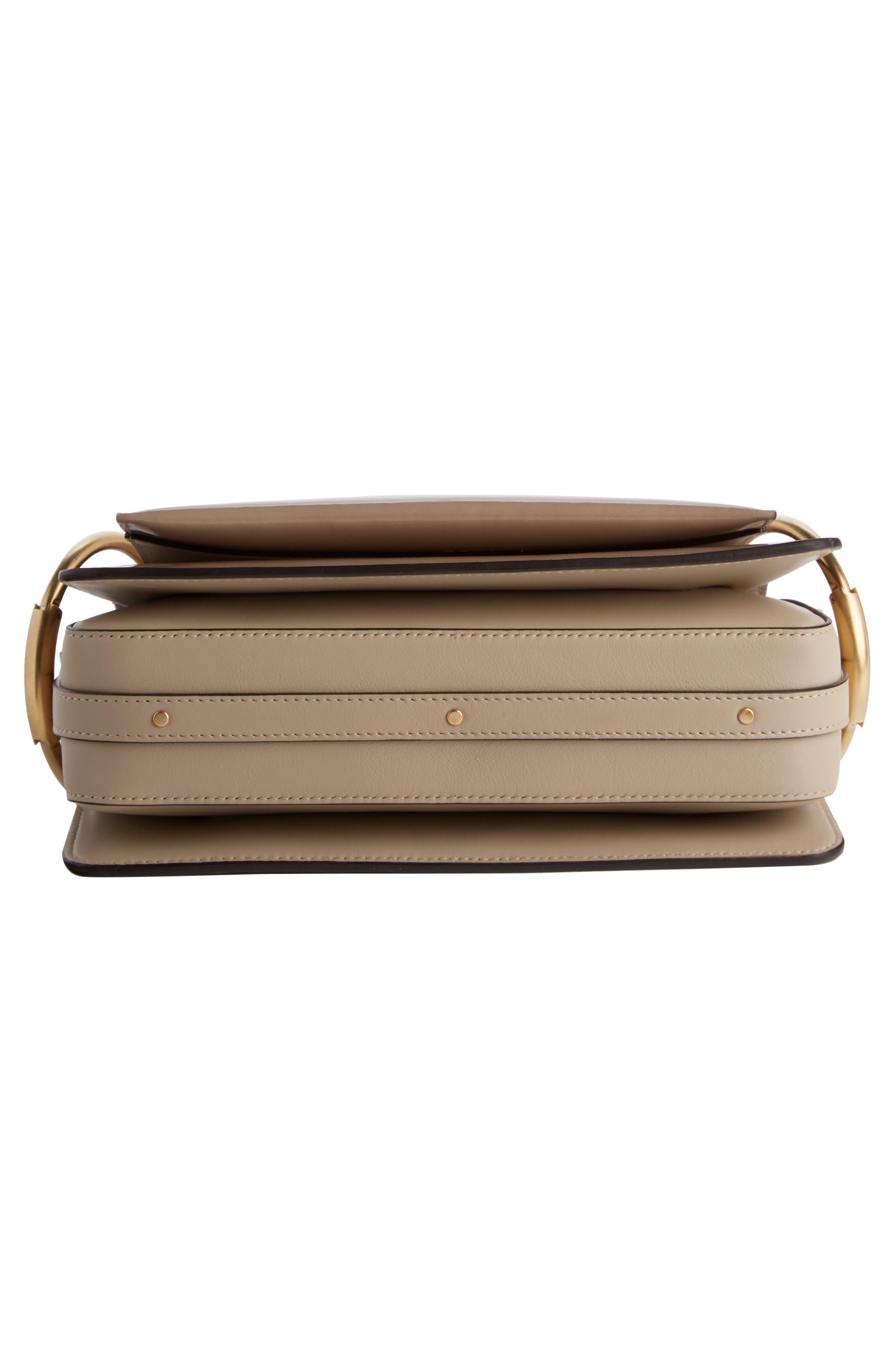 Large Roy Leather Shoulder Bag,                             Alternate thumbnail 5, color,                             Pastel Grey