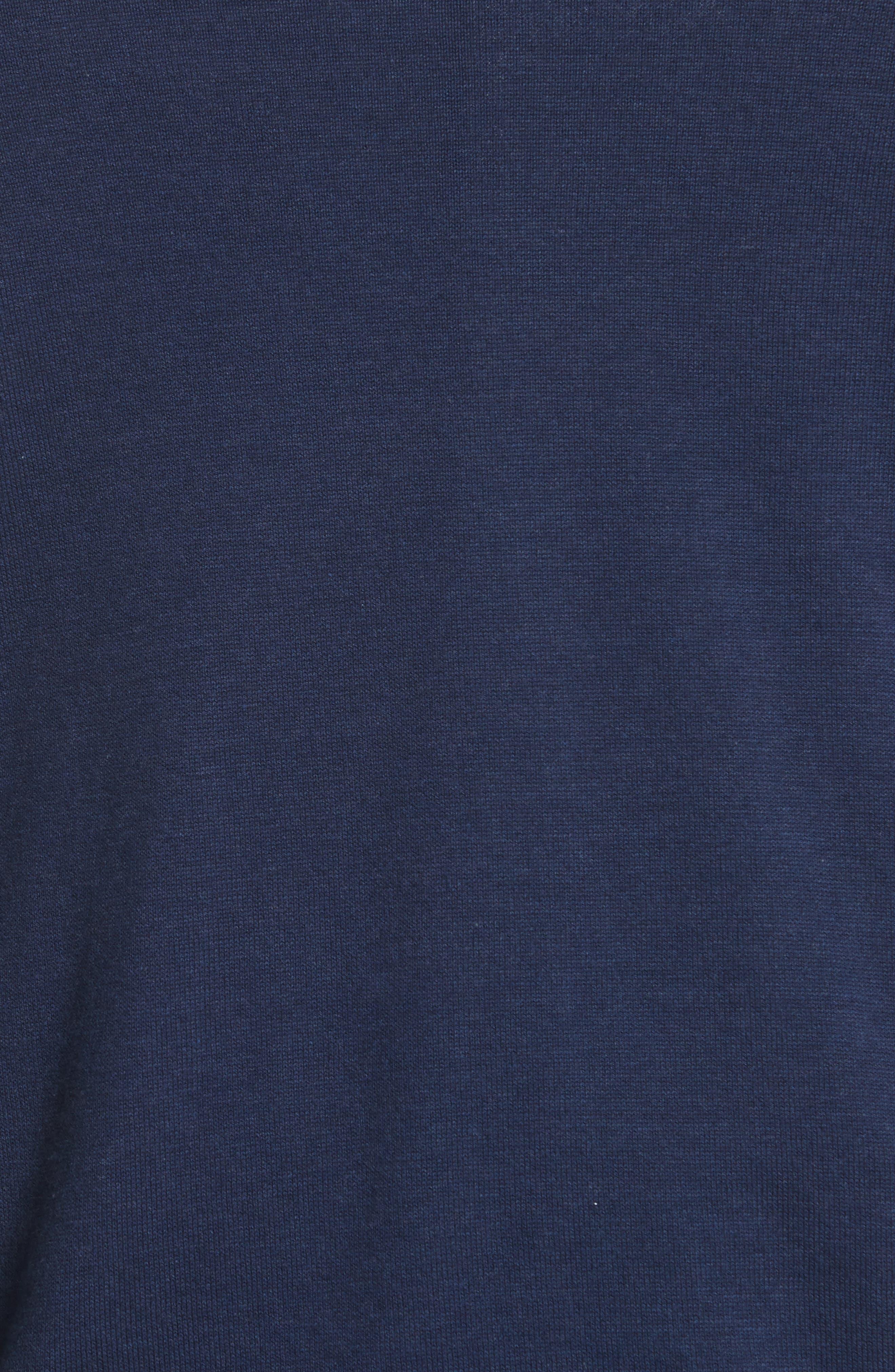 Quarter Zip Sweater,                             Alternate thumbnail 5, color,                             Dark Blue