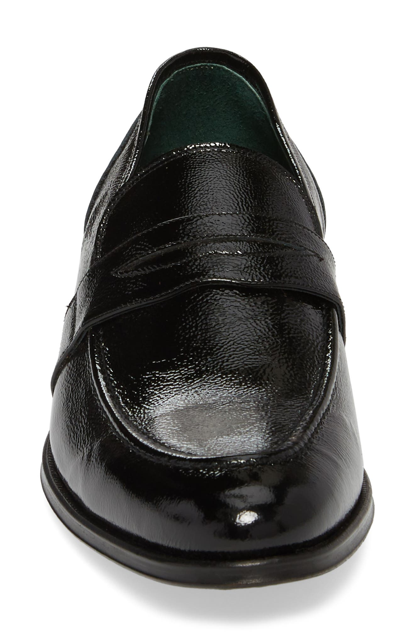 Argos Penny Loafer,                             Alternate thumbnail 4, color,                             Black Patent Leather