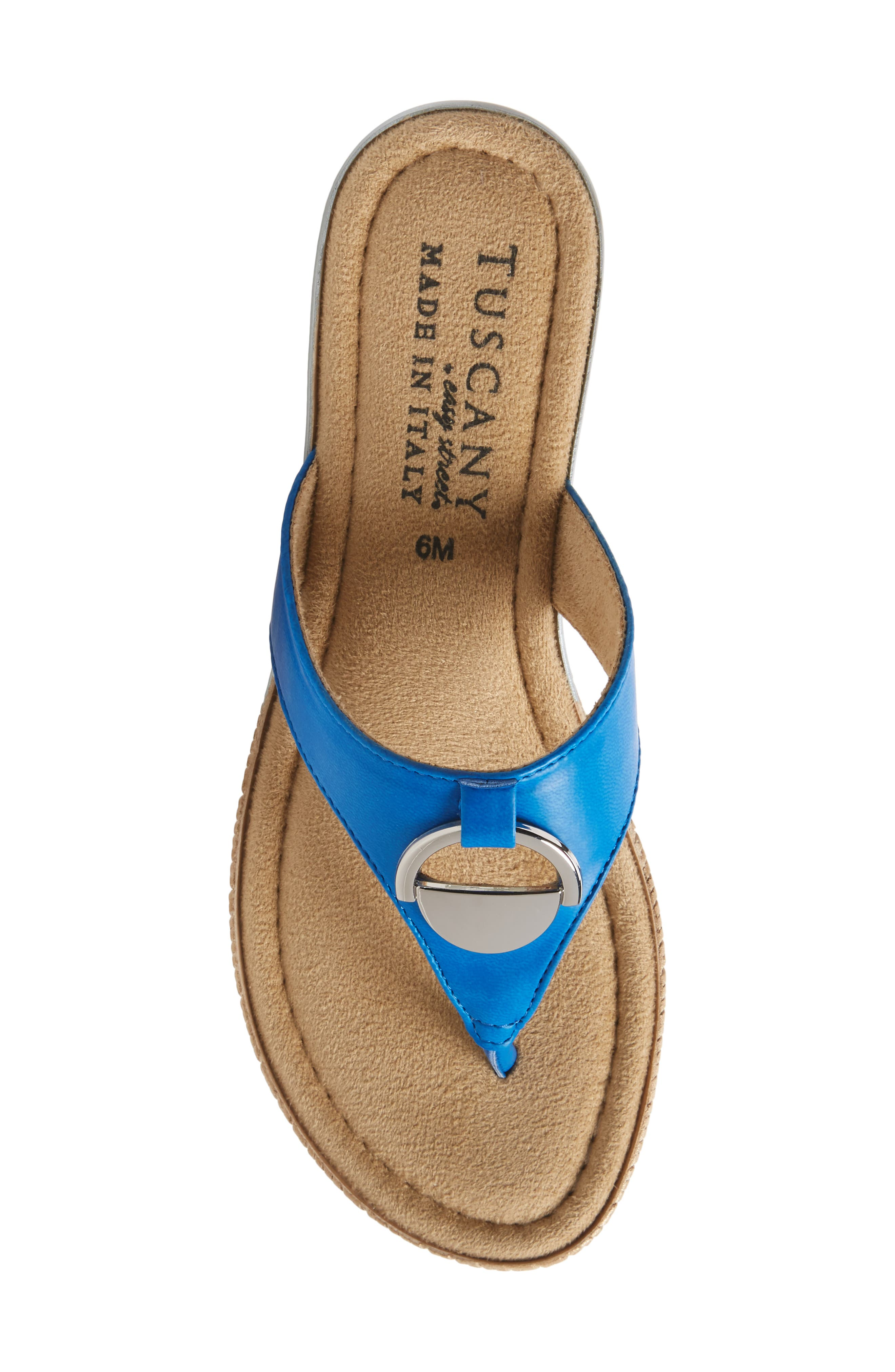 by Easy Street<sup>®</sup> Belinda Flip Flop,                             Alternate thumbnail 5, color,                             Blue Faux Leather