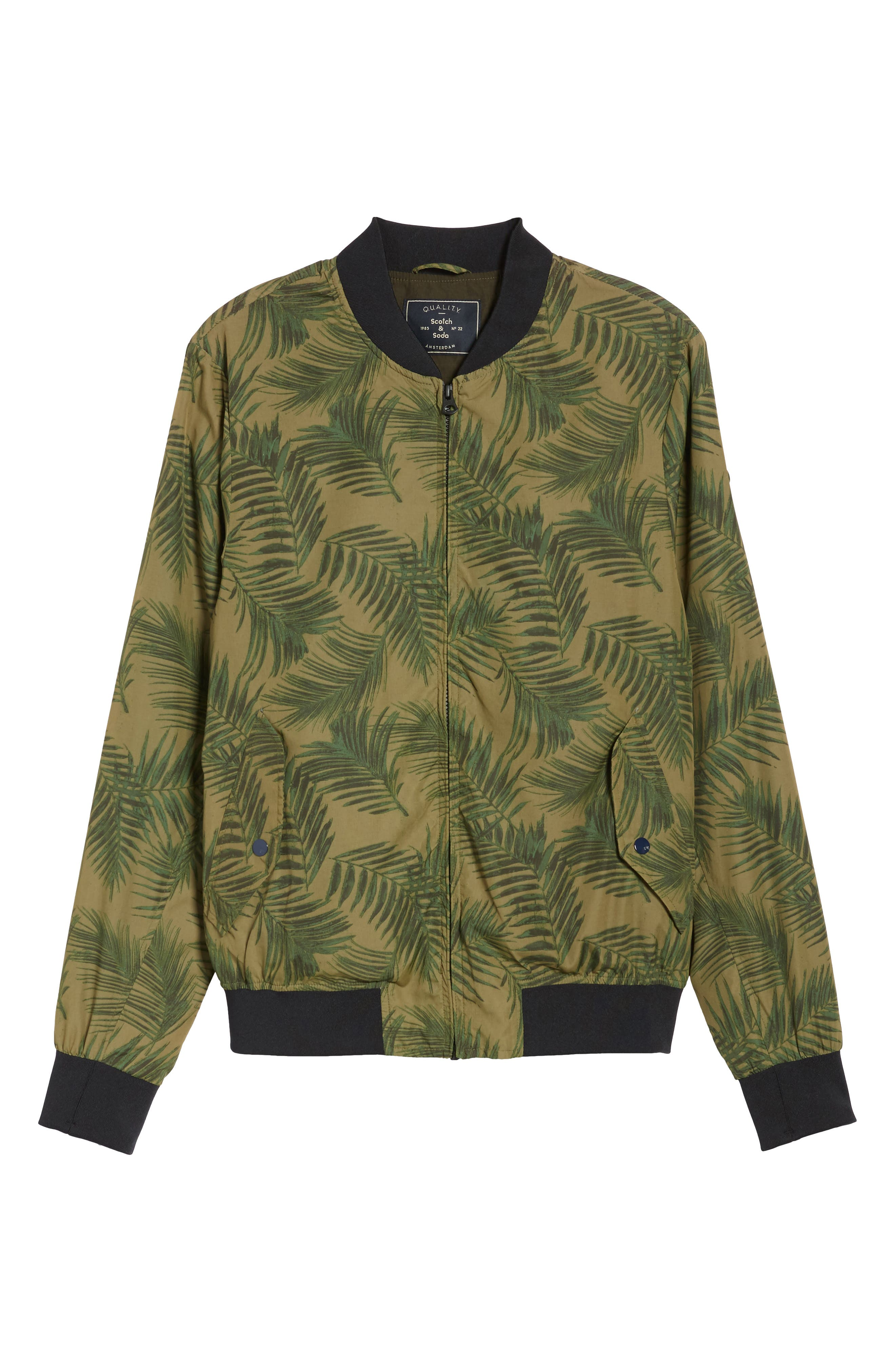 Bomber Jacket,                             Alternate thumbnail 6, color,                             Army