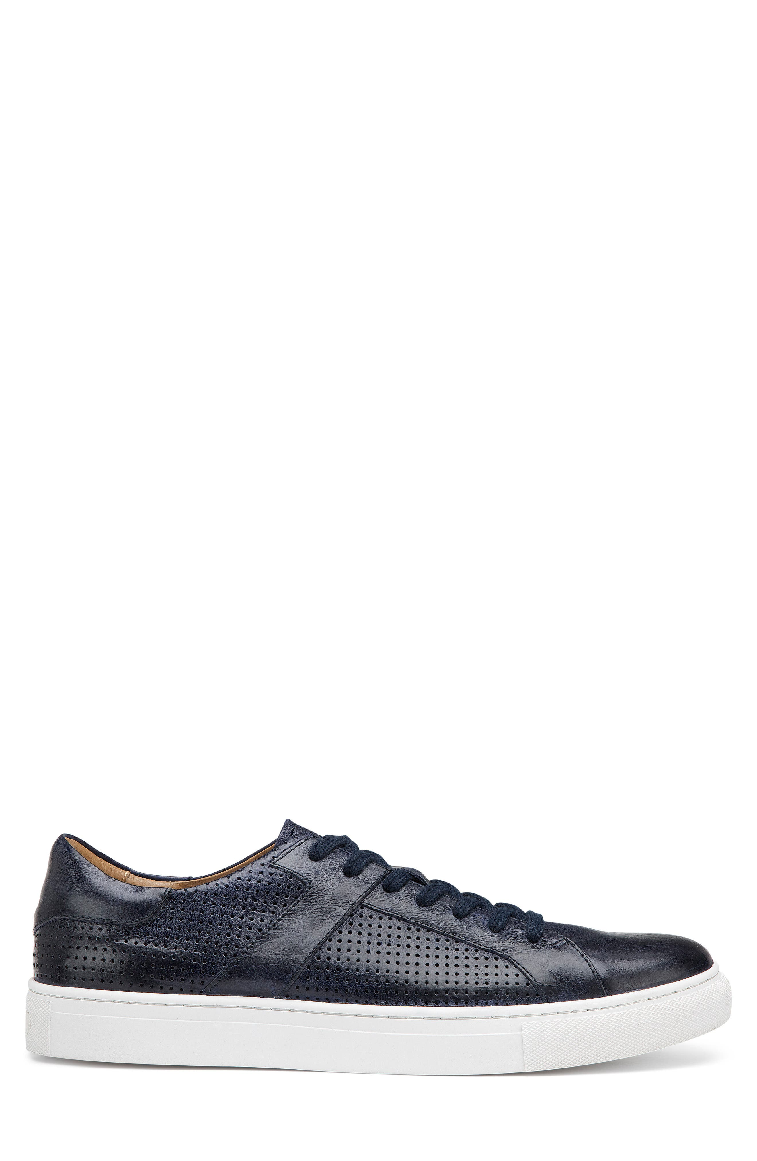 Aaron Sneaker,                             Alternate thumbnail 6, color,                             Navy Leather