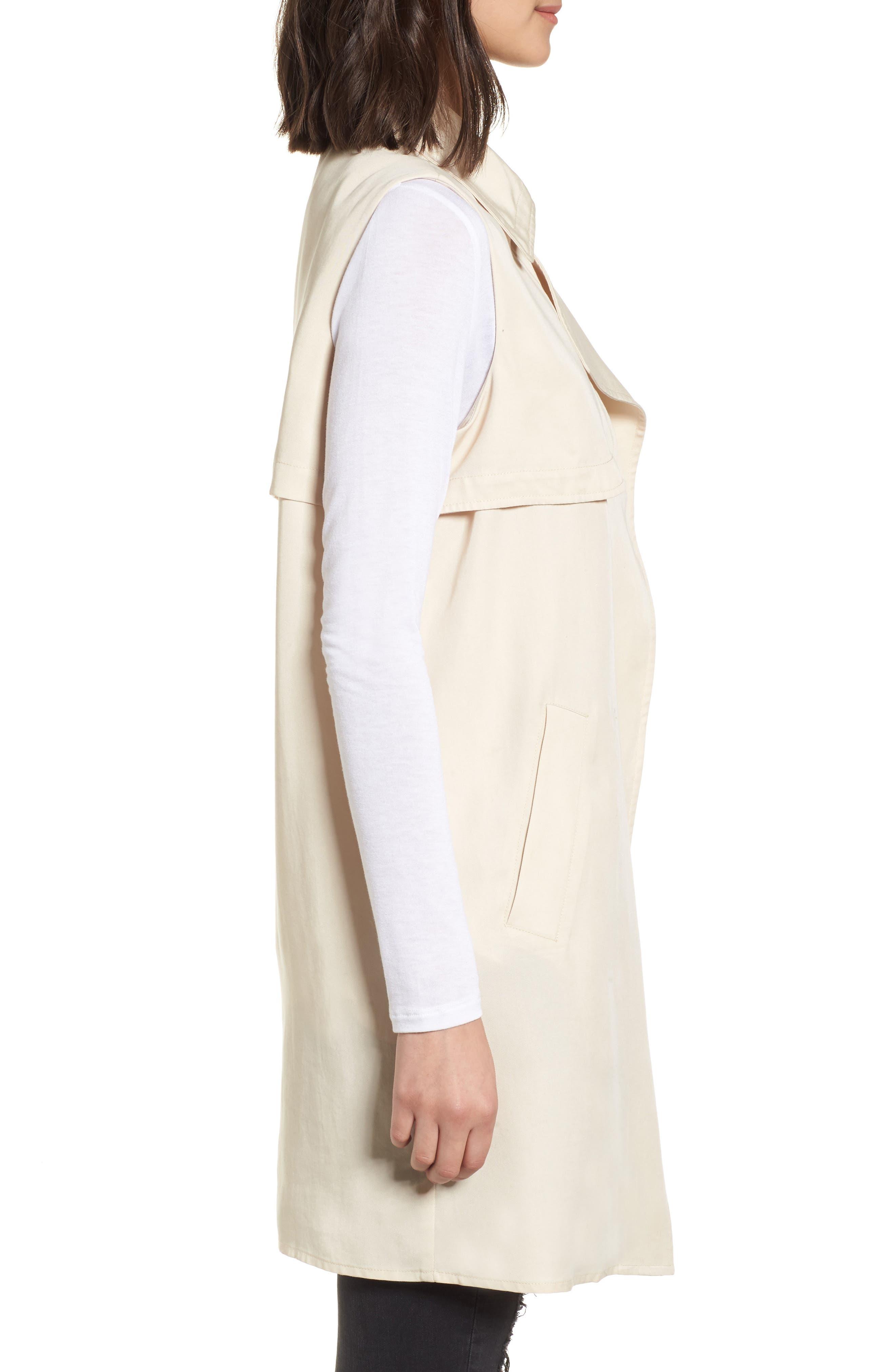 Zoe Longline Trench Vest,                             Alternate thumbnail 2, color,                             Beige