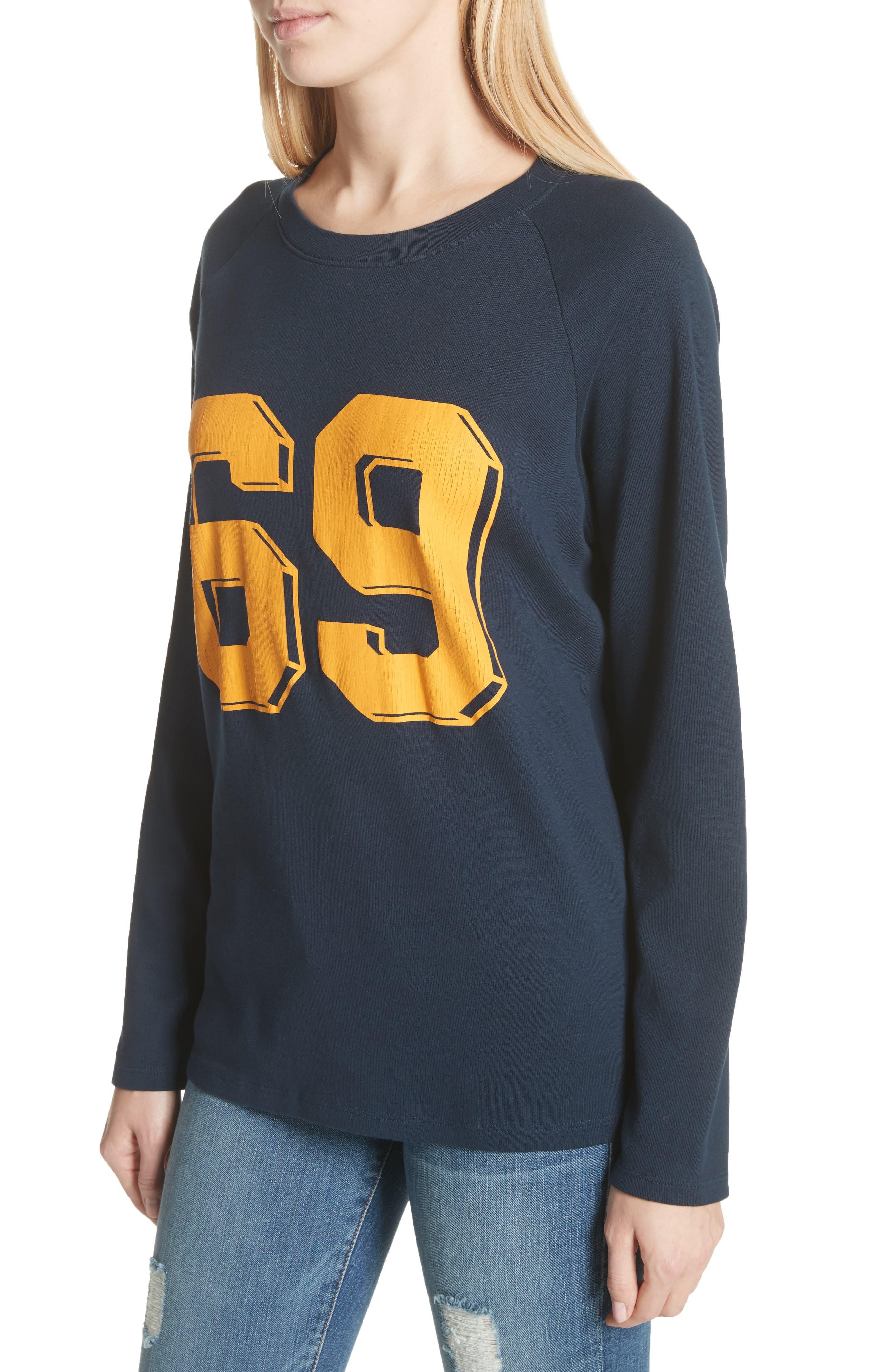 Collegiate Raglan Sweatshirt,                             Alternate thumbnail 4, color,                             Navy