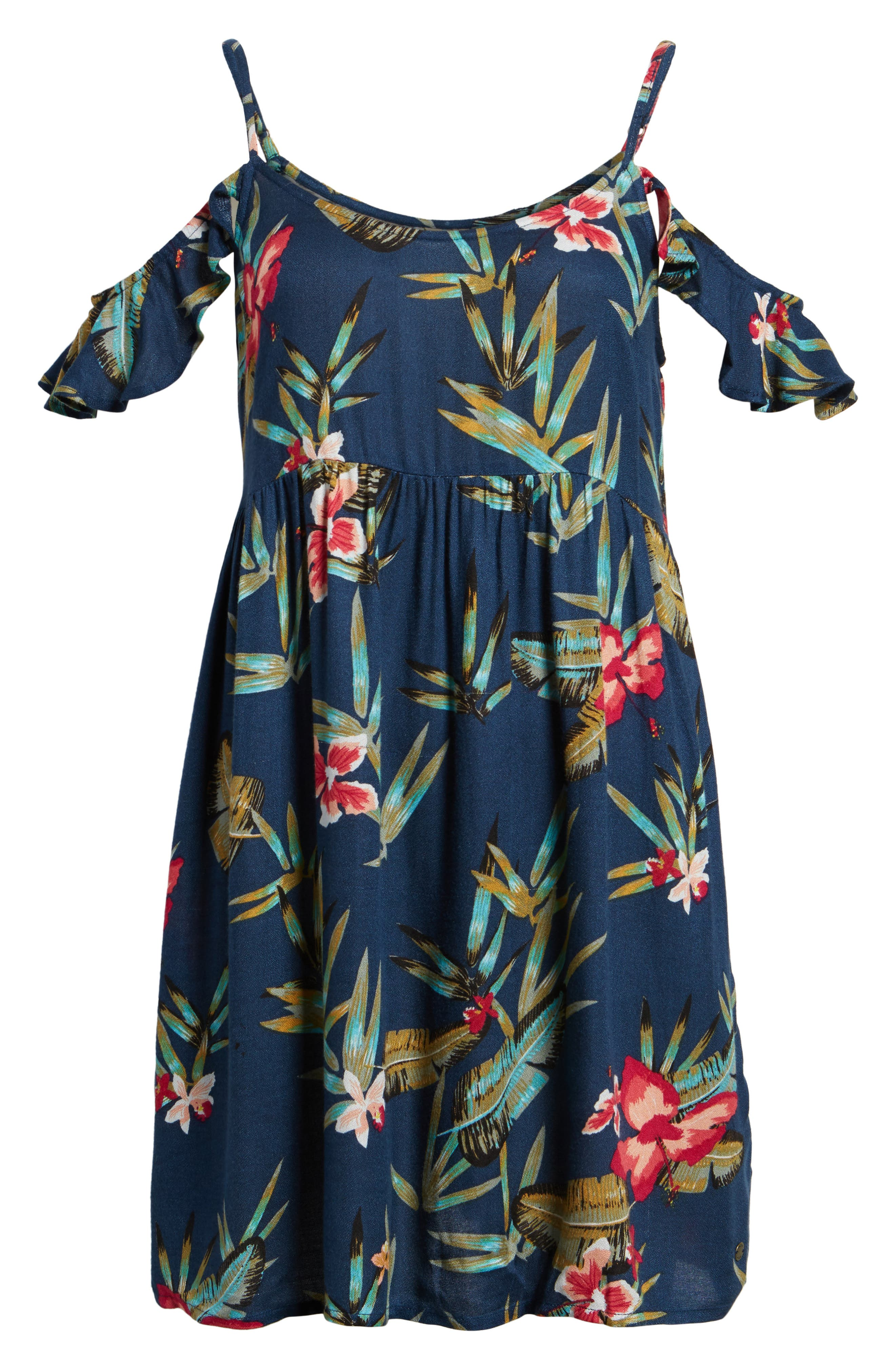 Do It My Way Cold Shoulder Sundress,                             Alternate thumbnail 6, color,                             Dress Blue Isle