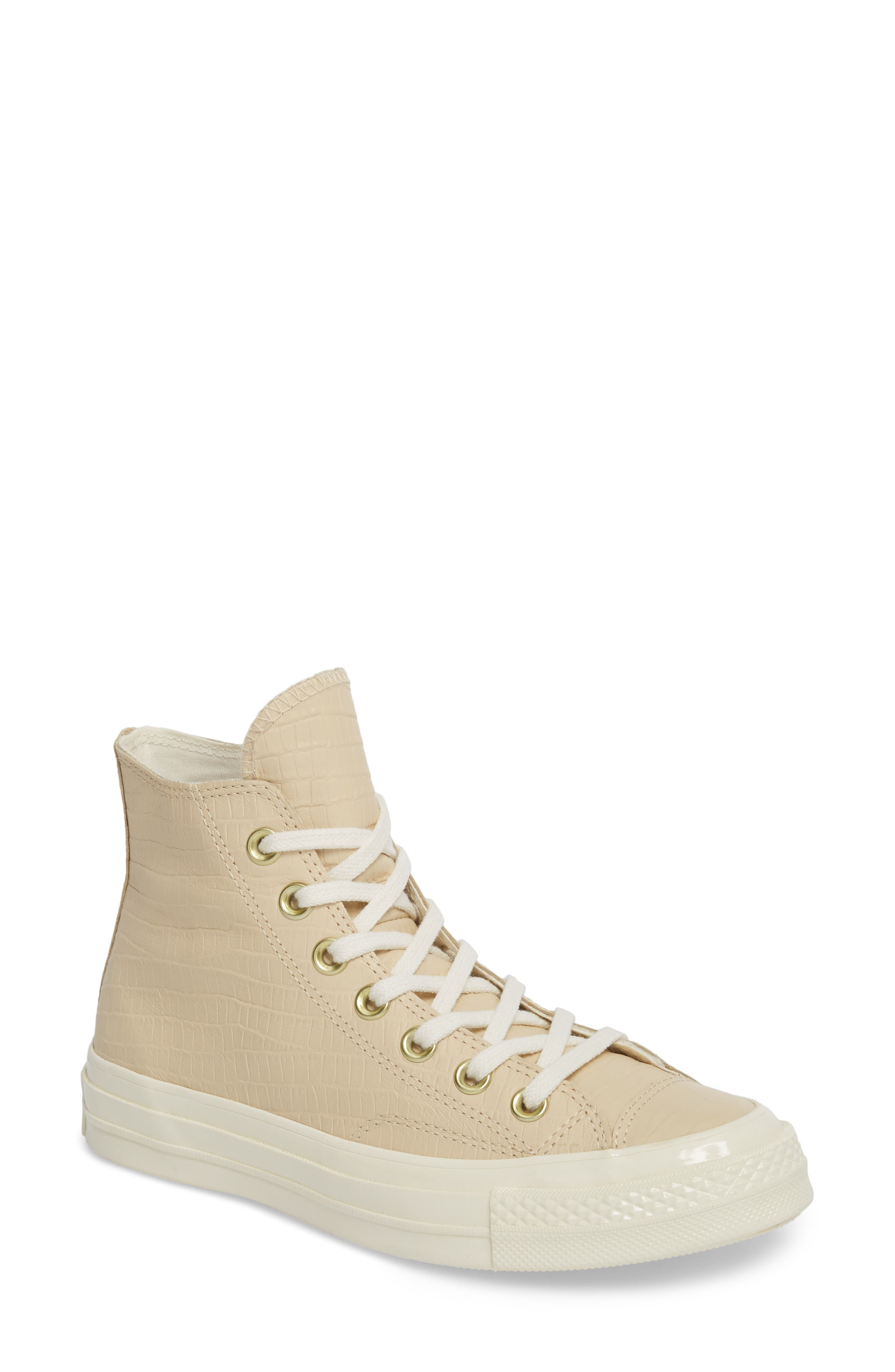 Chuck Taylor<sup>®</sup> All Star<sup>®</sup> CT 70 Reptile High Top Sneaker,                             Main thumbnail 1, color,                             Light Twine