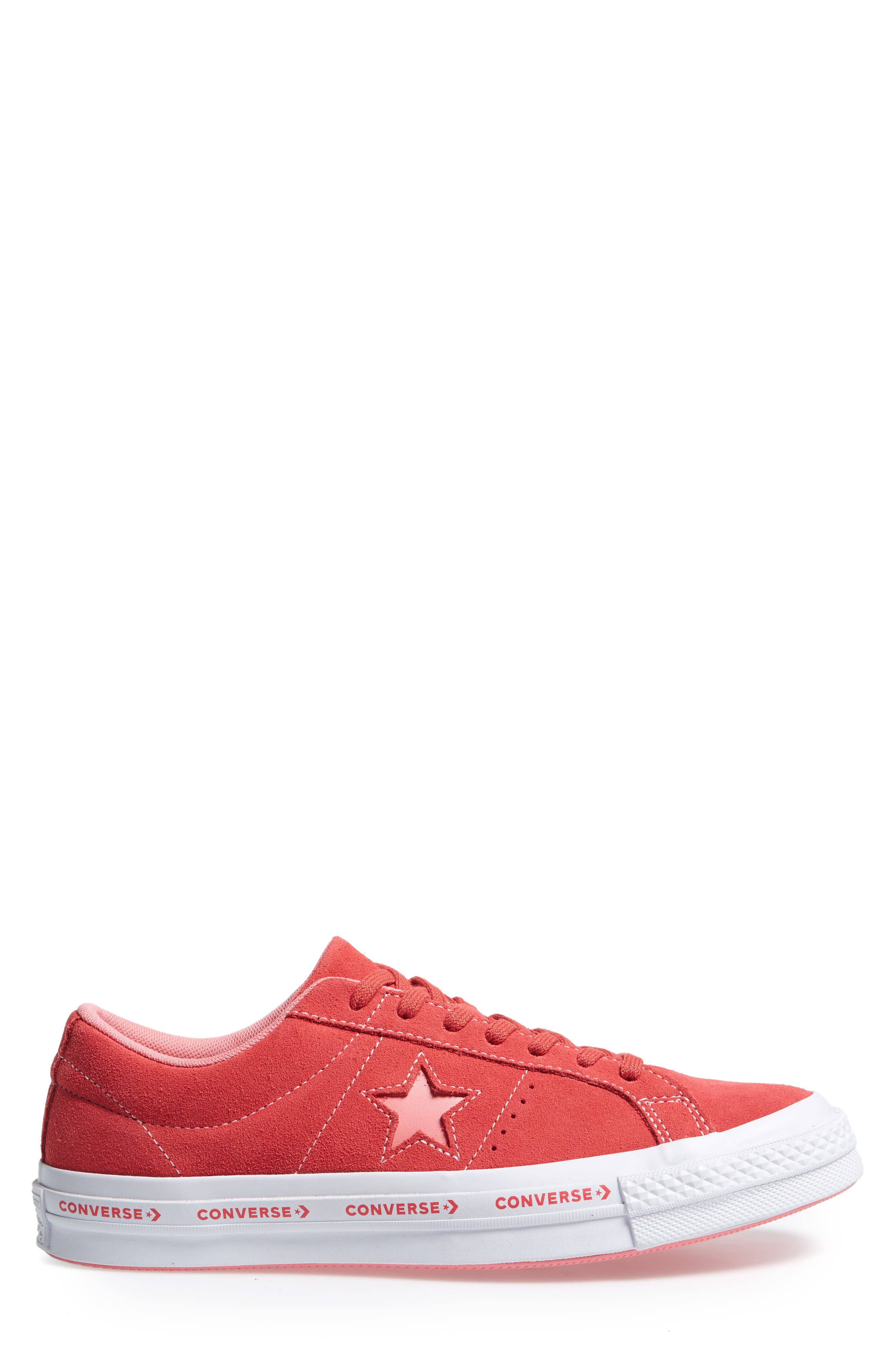 Chuck Taylor<sup>®</sup> One Star Pinstripe Sneaker,                             Alternate thumbnail 3, color,                             Paradise Pink Suede