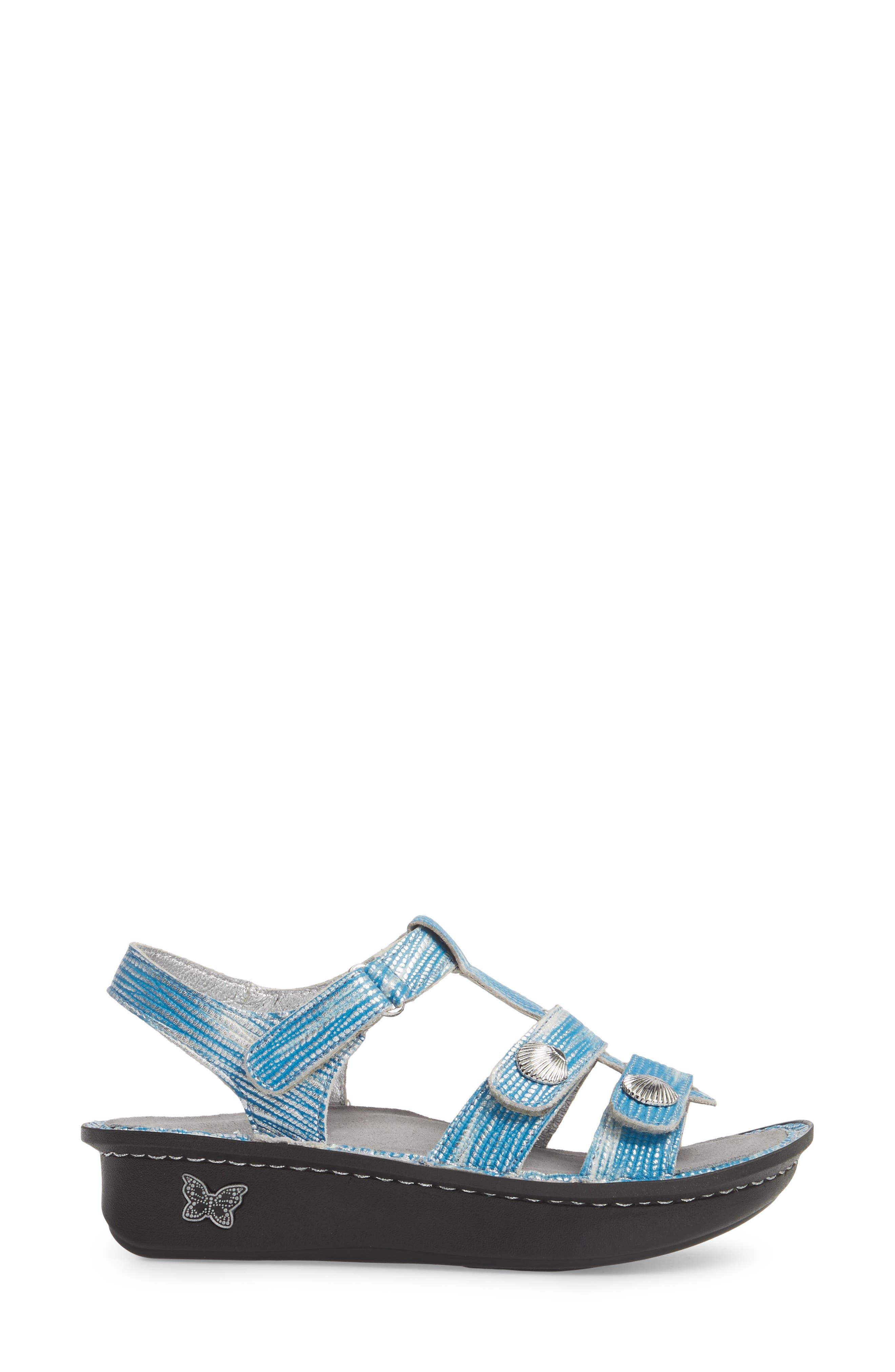 'Kleo' Sandal,                             Alternate thumbnail 3, color,                             Wrapture Blues Leather