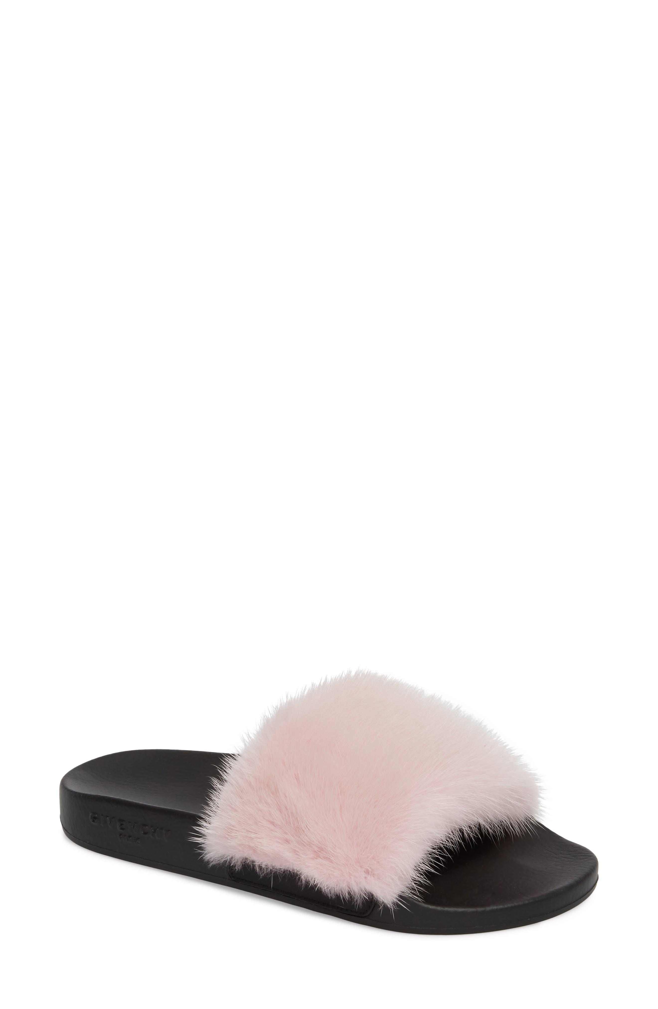 Main Image - Givenchy Genuine Mink Fur Slide Sandal (Women)