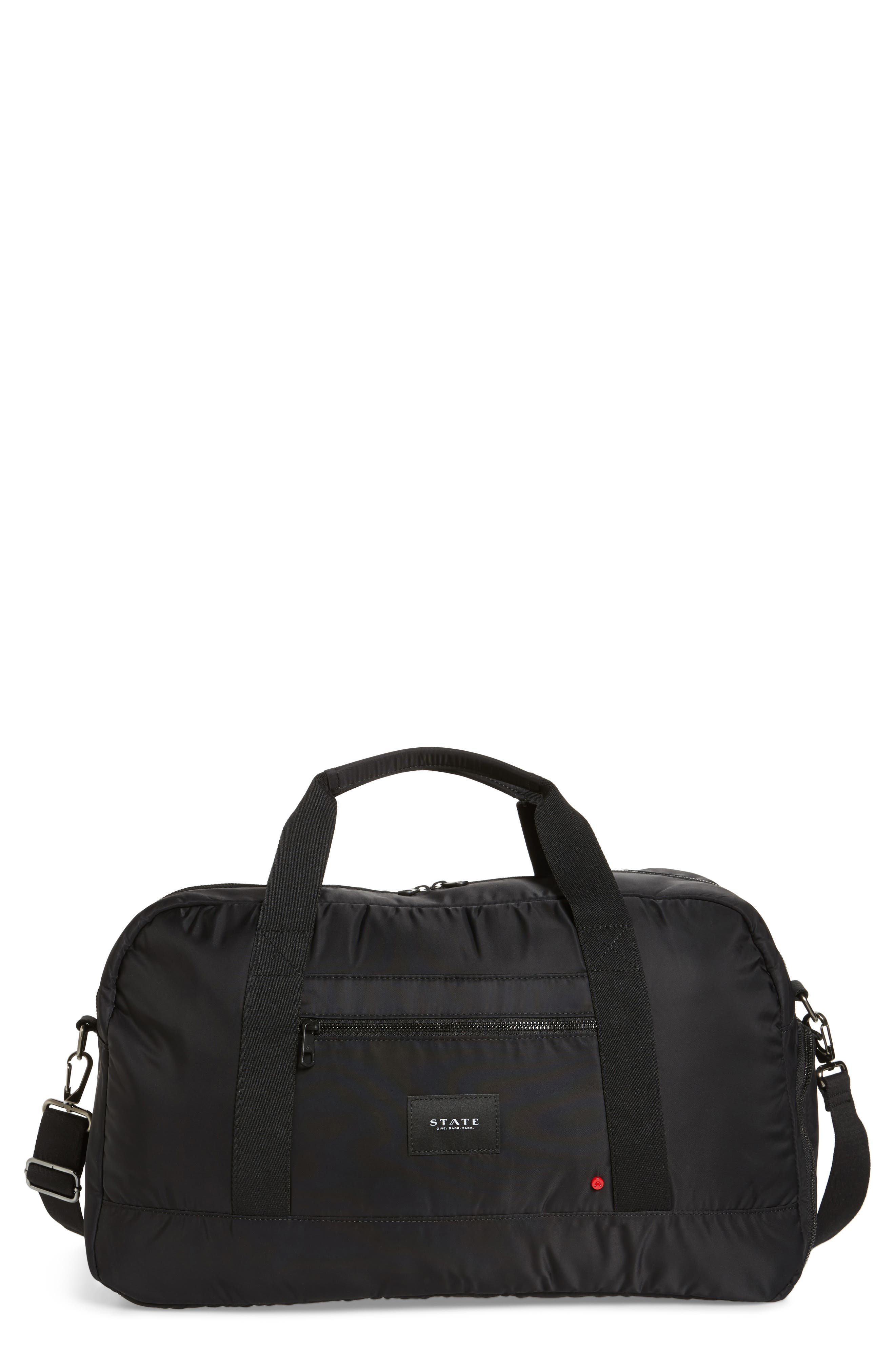 The Heights - Franklin Nylon Duffel Bag,                             Main thumbnail 1, color,                             Black