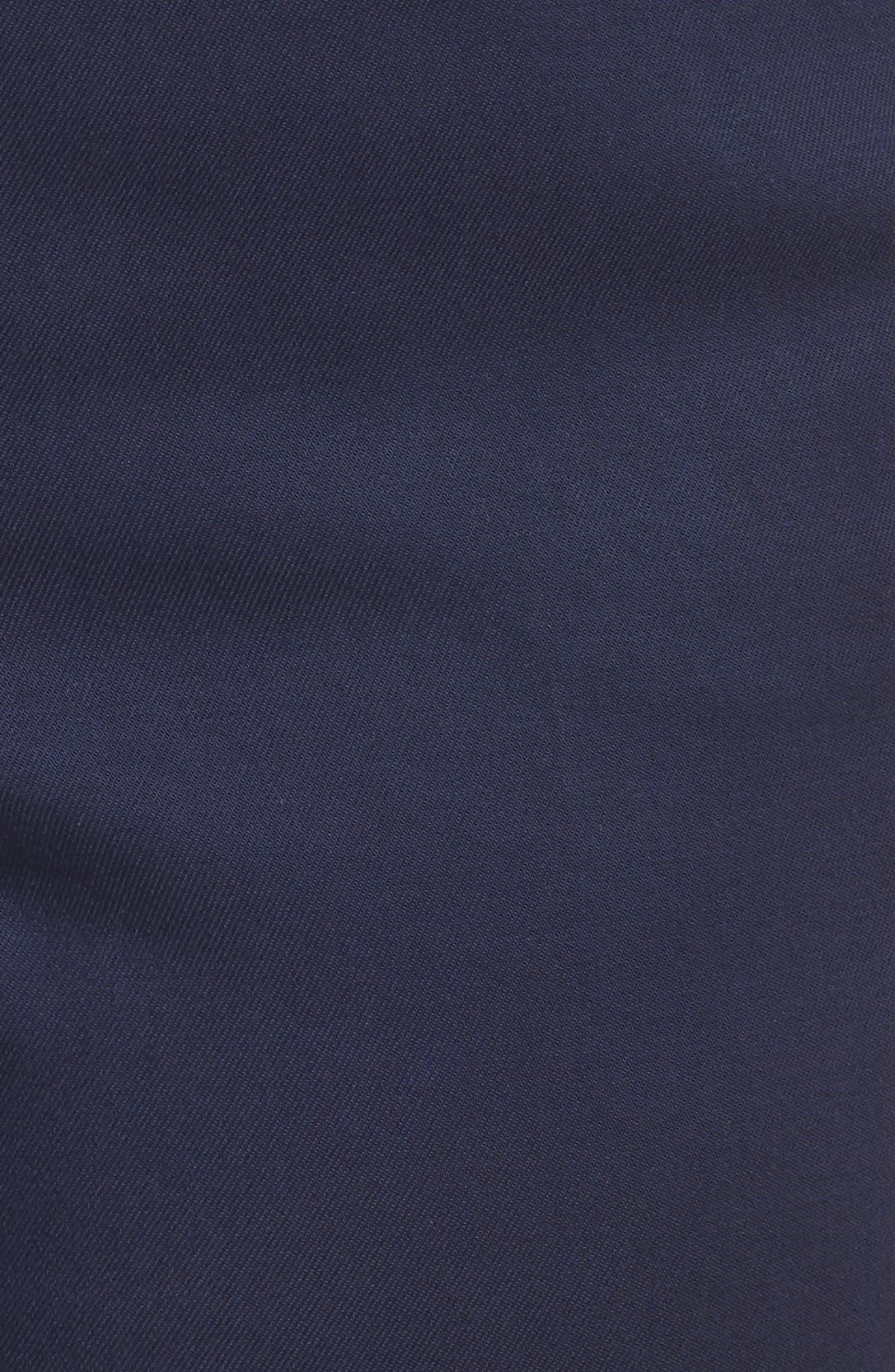 Stretch Twill Ankle Pants,                             Alternate thumbnail 5, color,                             Navy Peacoat
