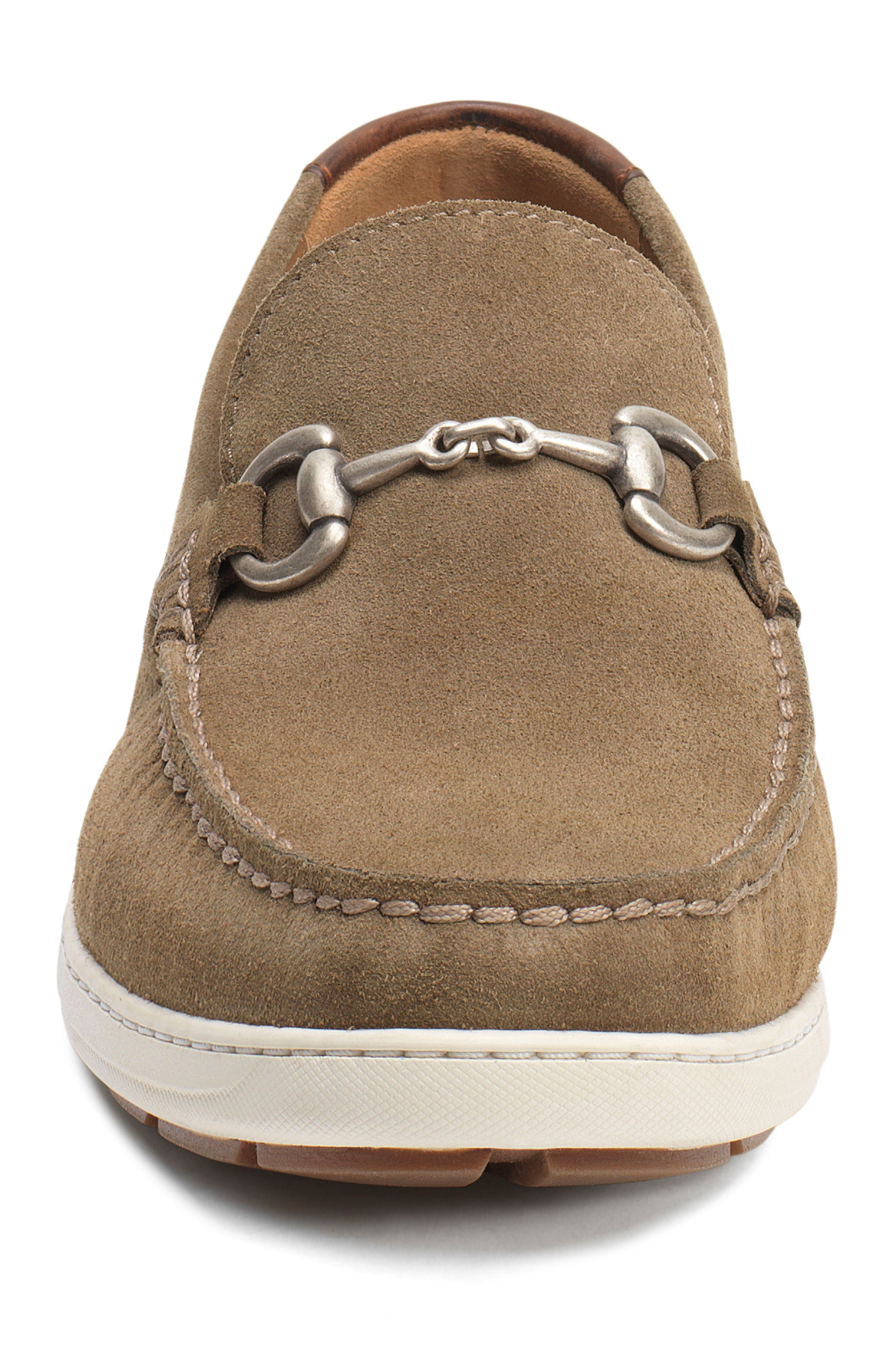 Stalworth Bit Loafer,                             Alternate thumbnail 4, color,                             Taupe Leather