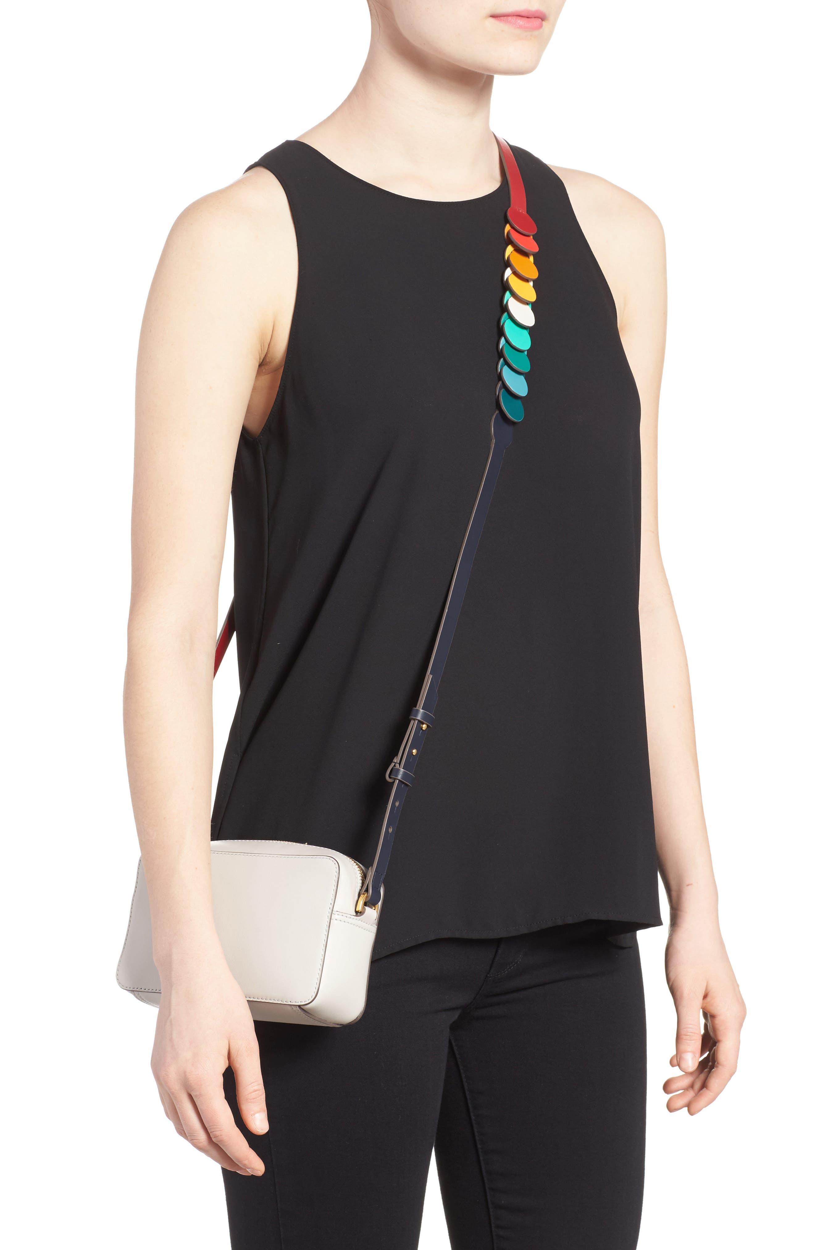 Mini Circles Leather Crossbody Bag,                             Alternate thumbnail 2, color,                             Steam