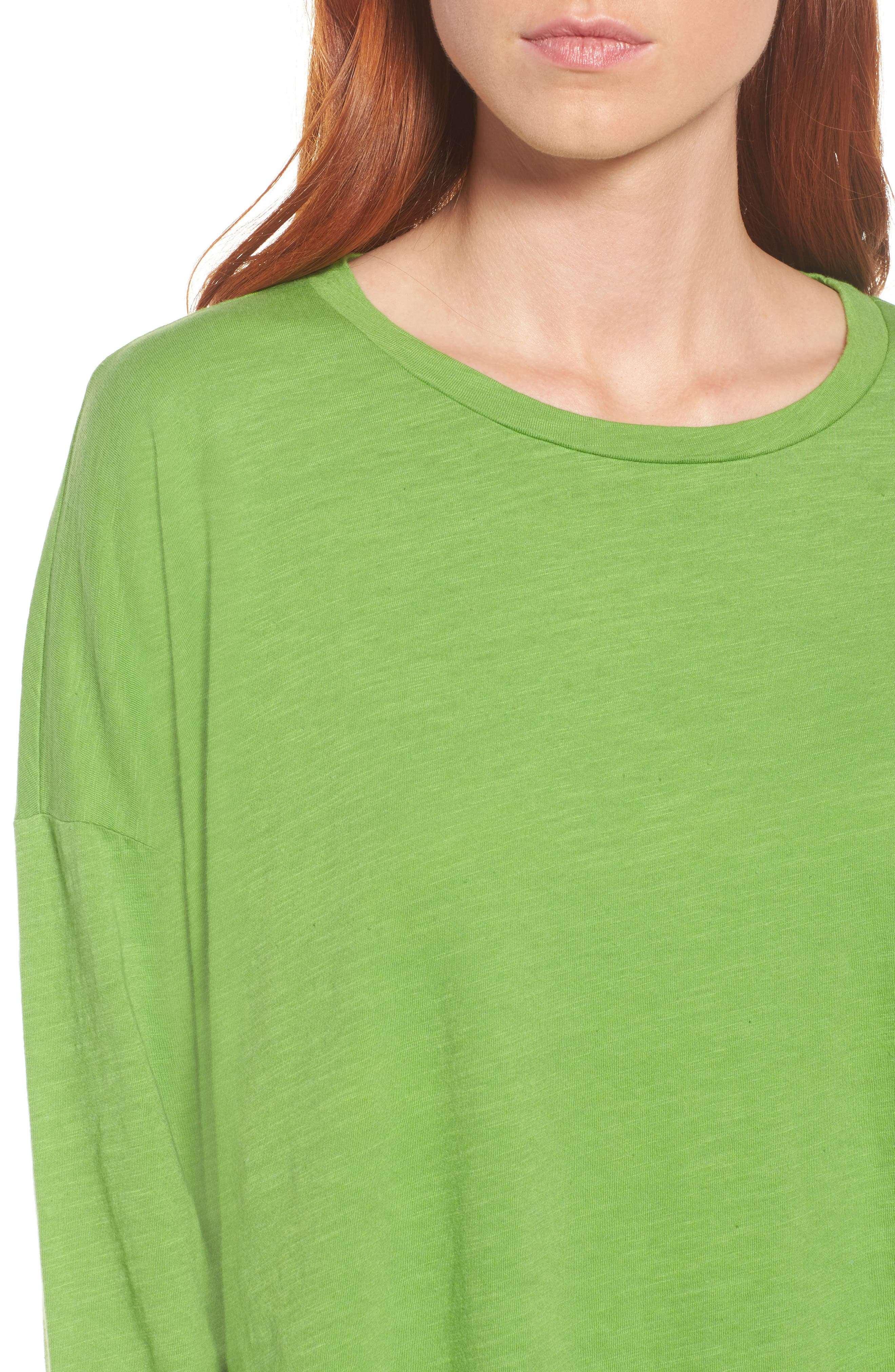 Organic Cotton Knit Top,                             Alternate thumbnail 4, color,                             Apple