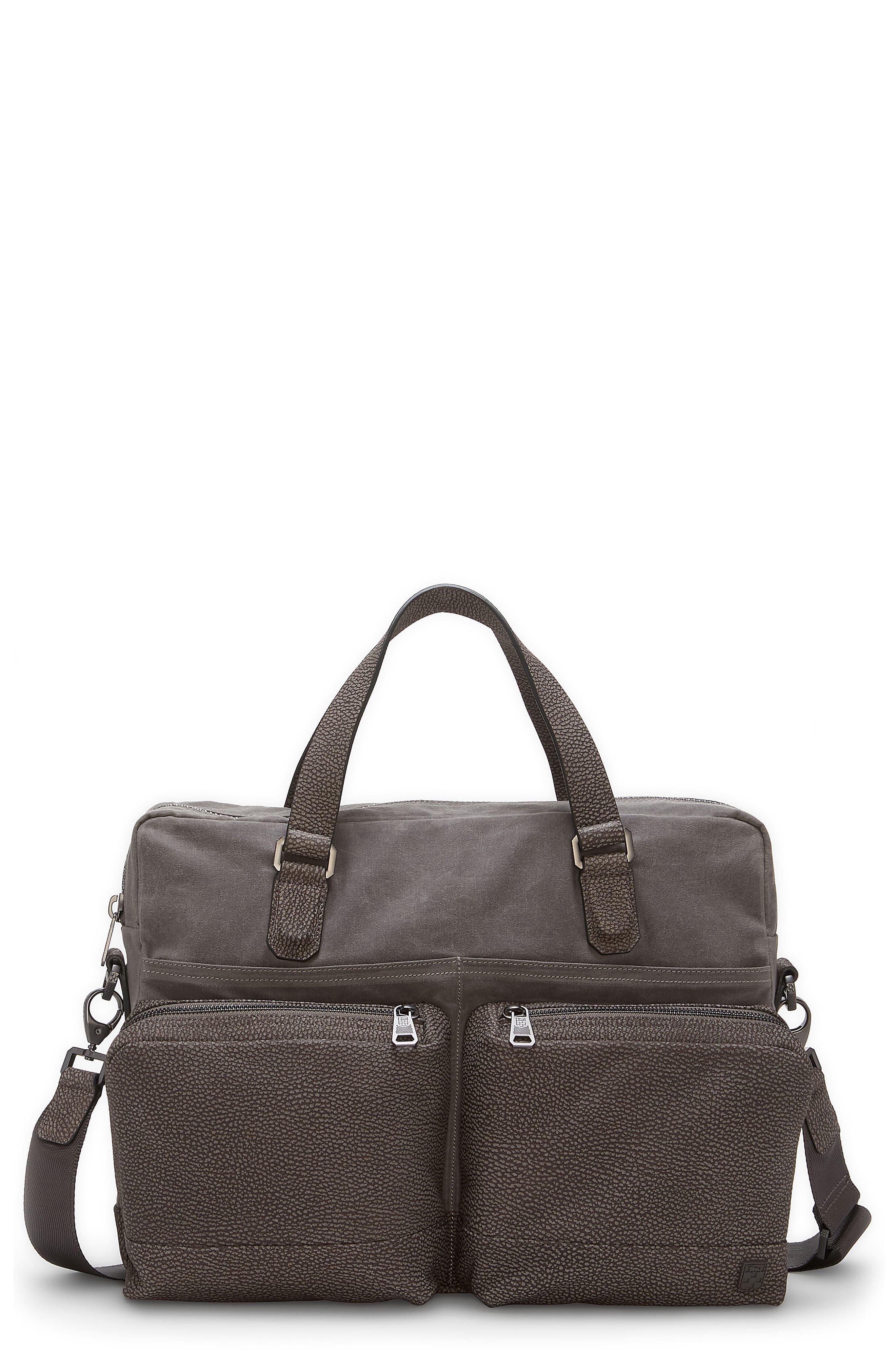 Basin Satchel Briefcase,                             Main thumbnail 1, color,                             Steeple Grey