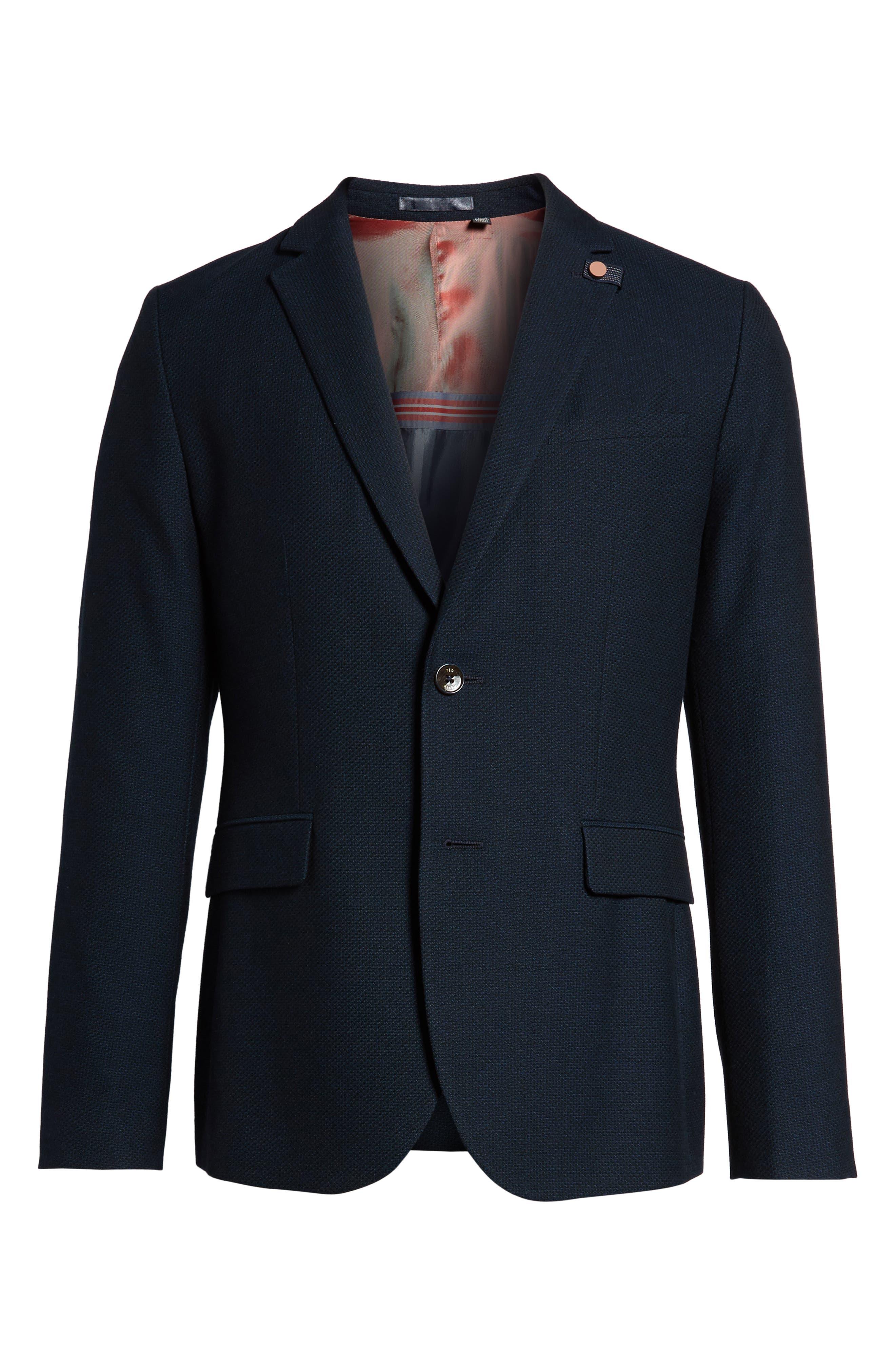 Olsson Textured Sport Coat,                             Alternate thumbnail 6, color,                             Navy
