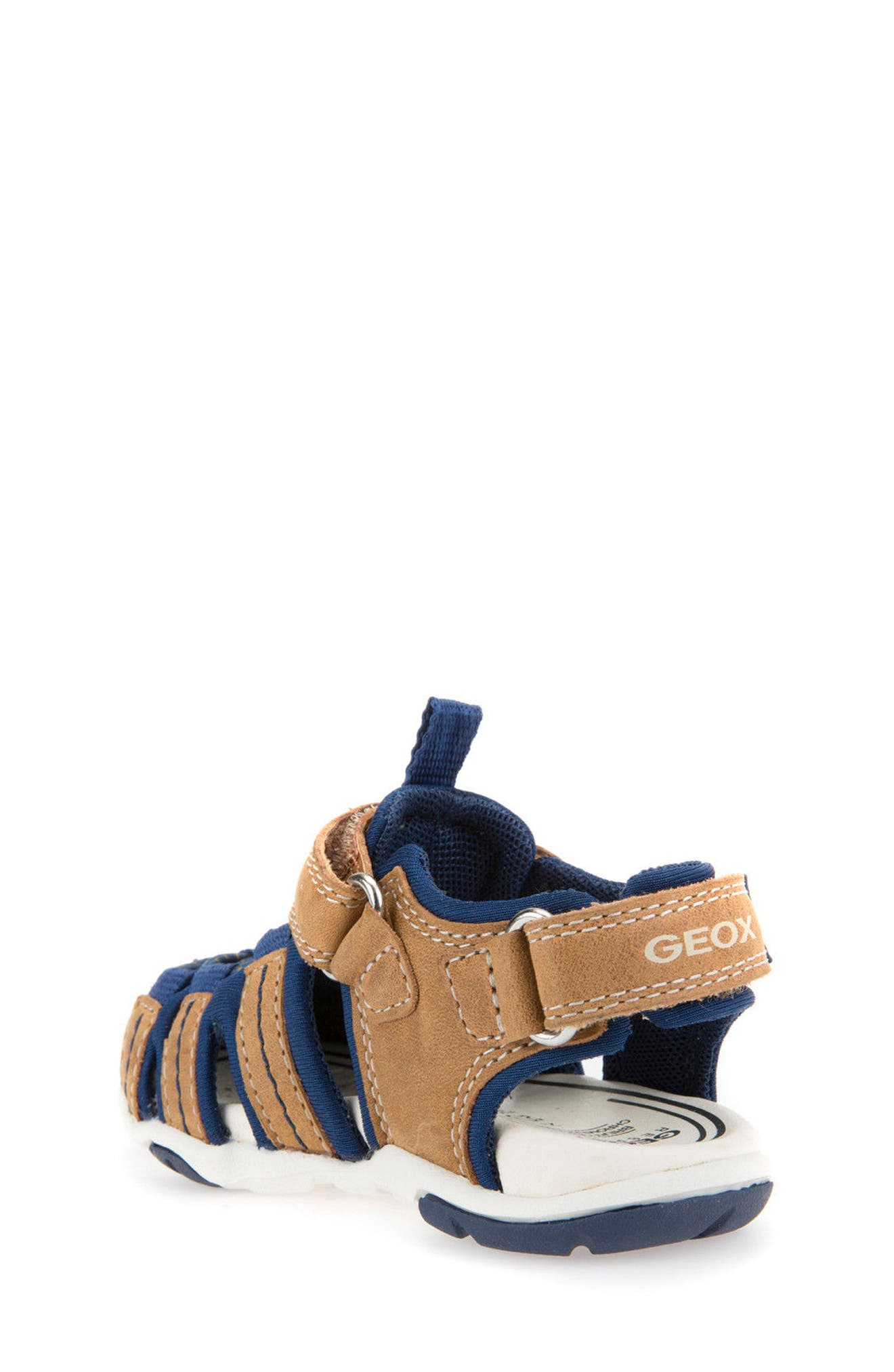 Agasim Fisherman Sandal,                             Alternate thumbnail 2, color,                             Caramel/ Navy
