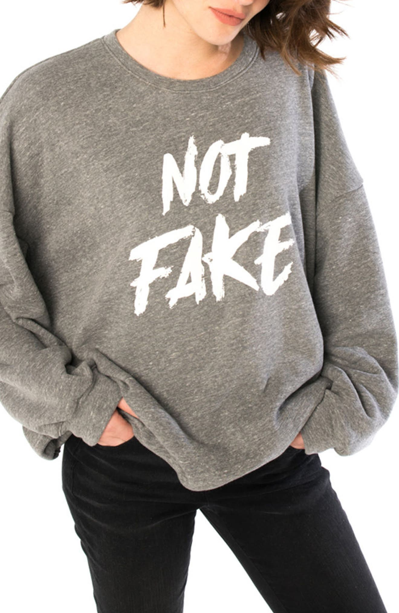 NOT FAKE OVERSIZE SWEATSHIRT