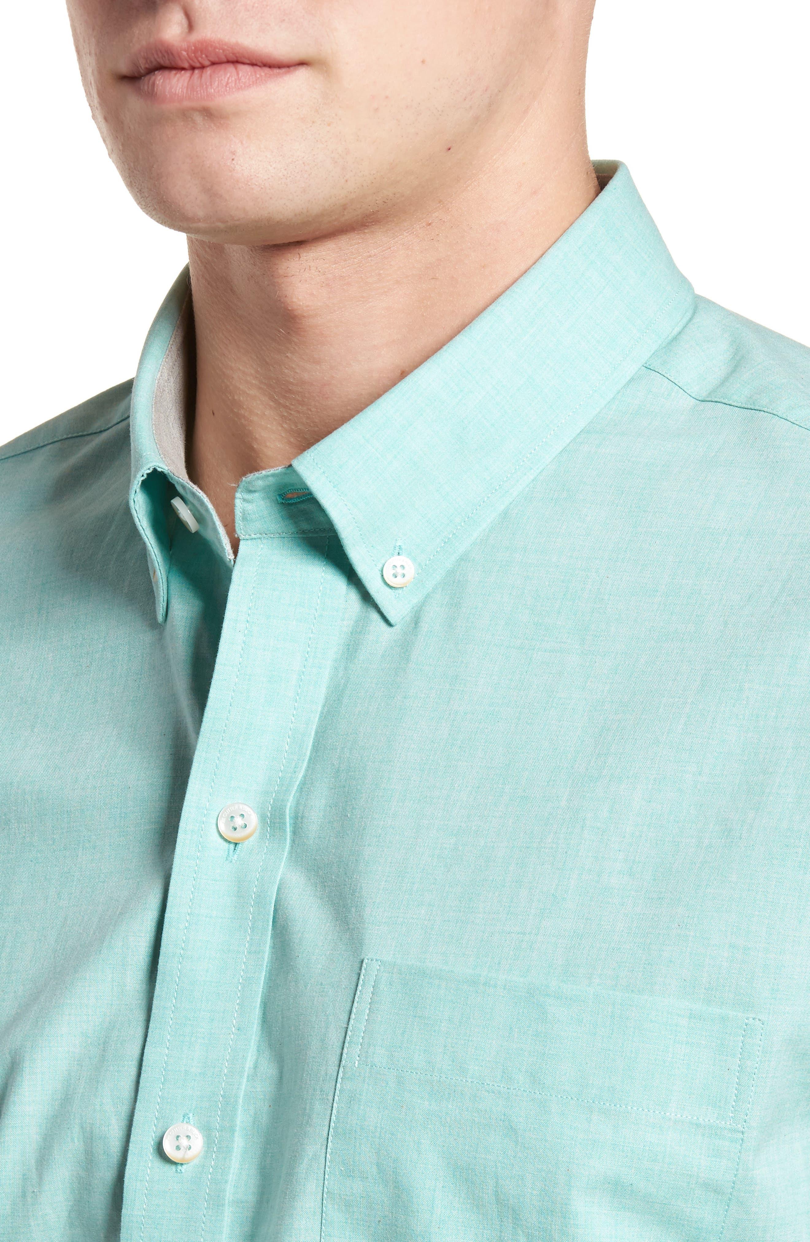 Alternate Image 4  - Cutter & Buck Heather Classic Fit No-Iron Sport Shirt