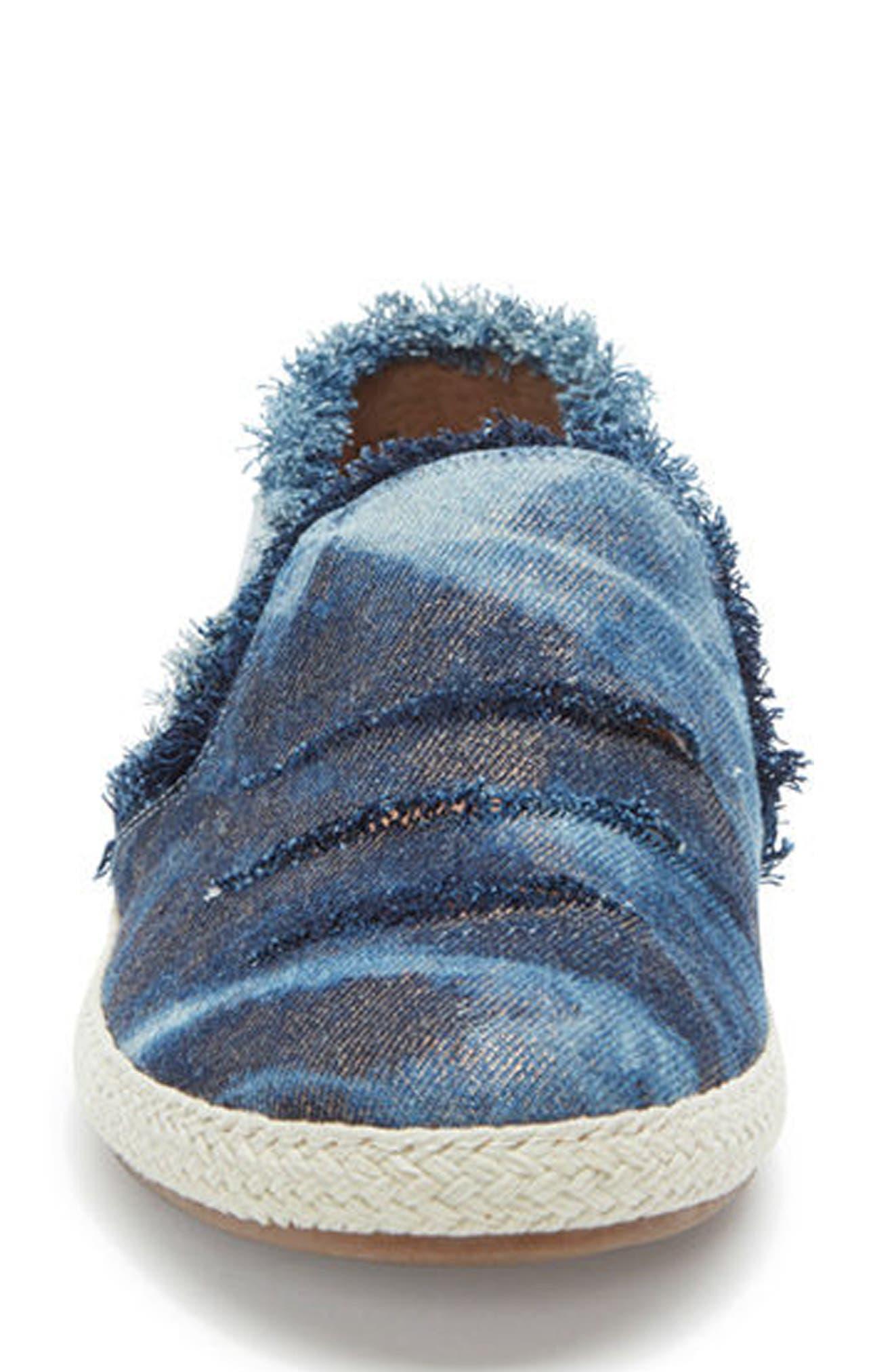 Adam Tucker Marin Slip-On Sneaker,                             Alternate thumbnail 4, color,                             Blue Champagne Denim Fabric