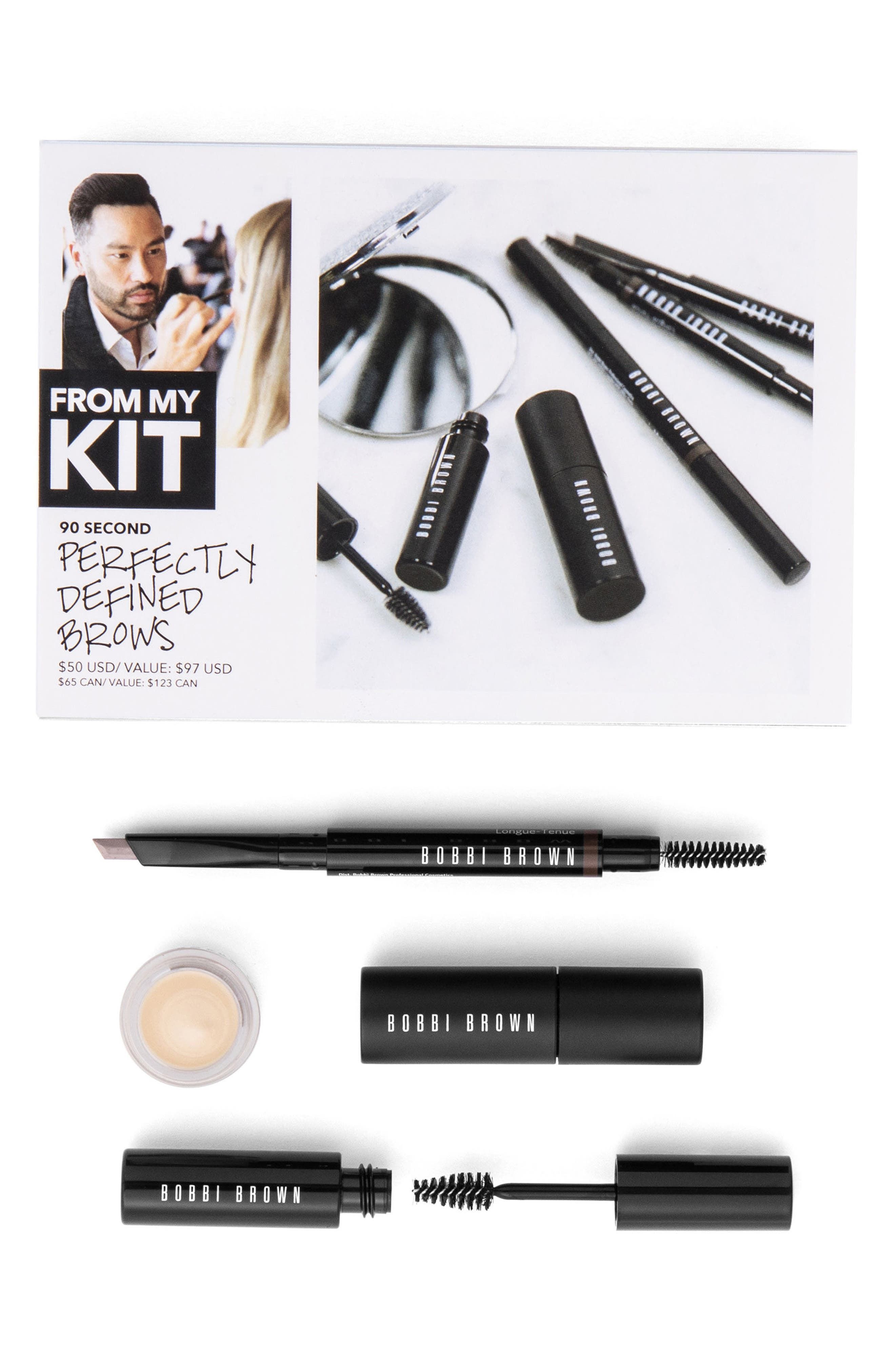 90 Second Perfectly Defined Brows Kit,                         Main,                         color, Mahogany