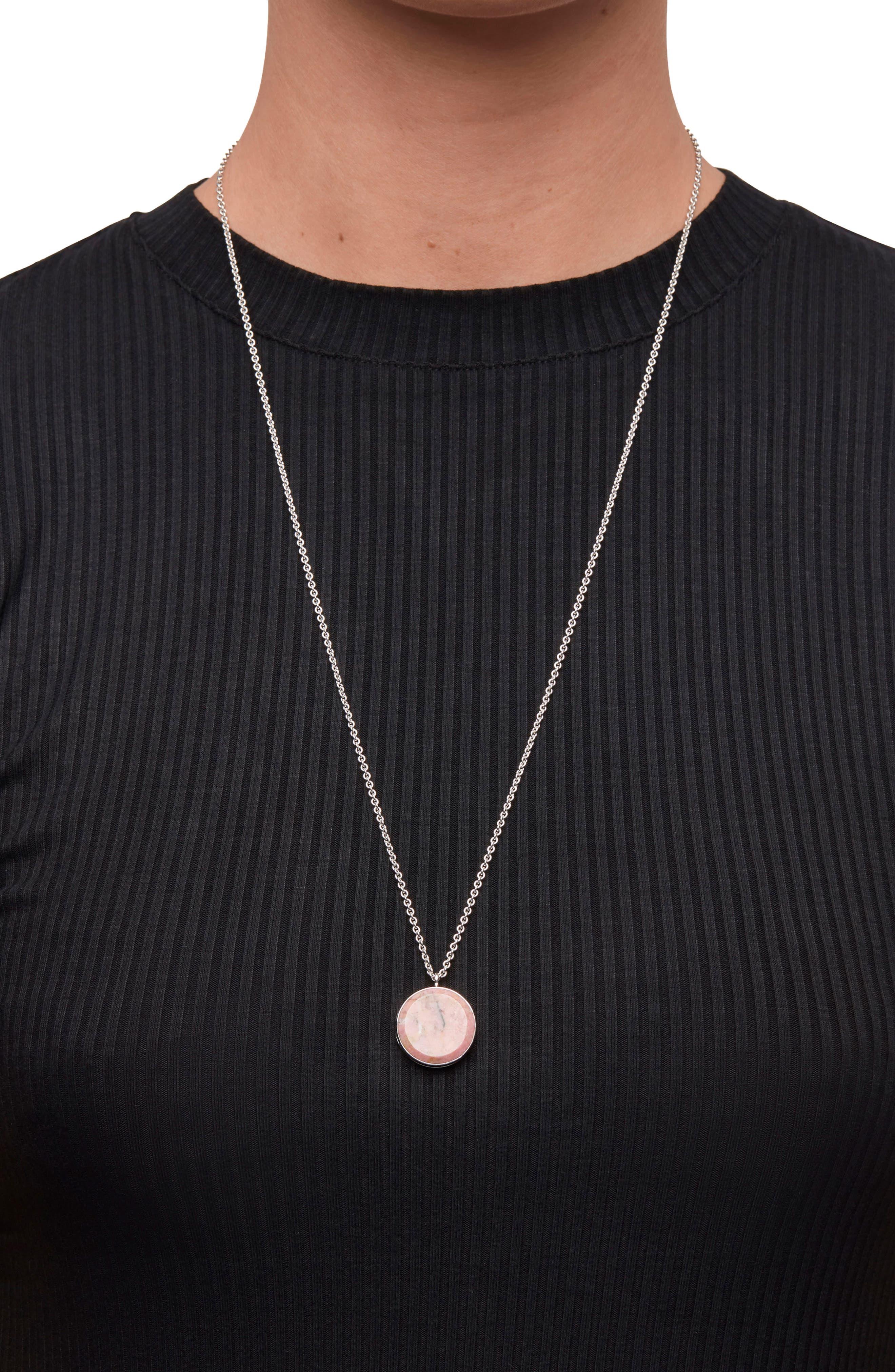 Alternate Image 2  - Tom Wood Large Pink Rhodonite Medallion Necklace