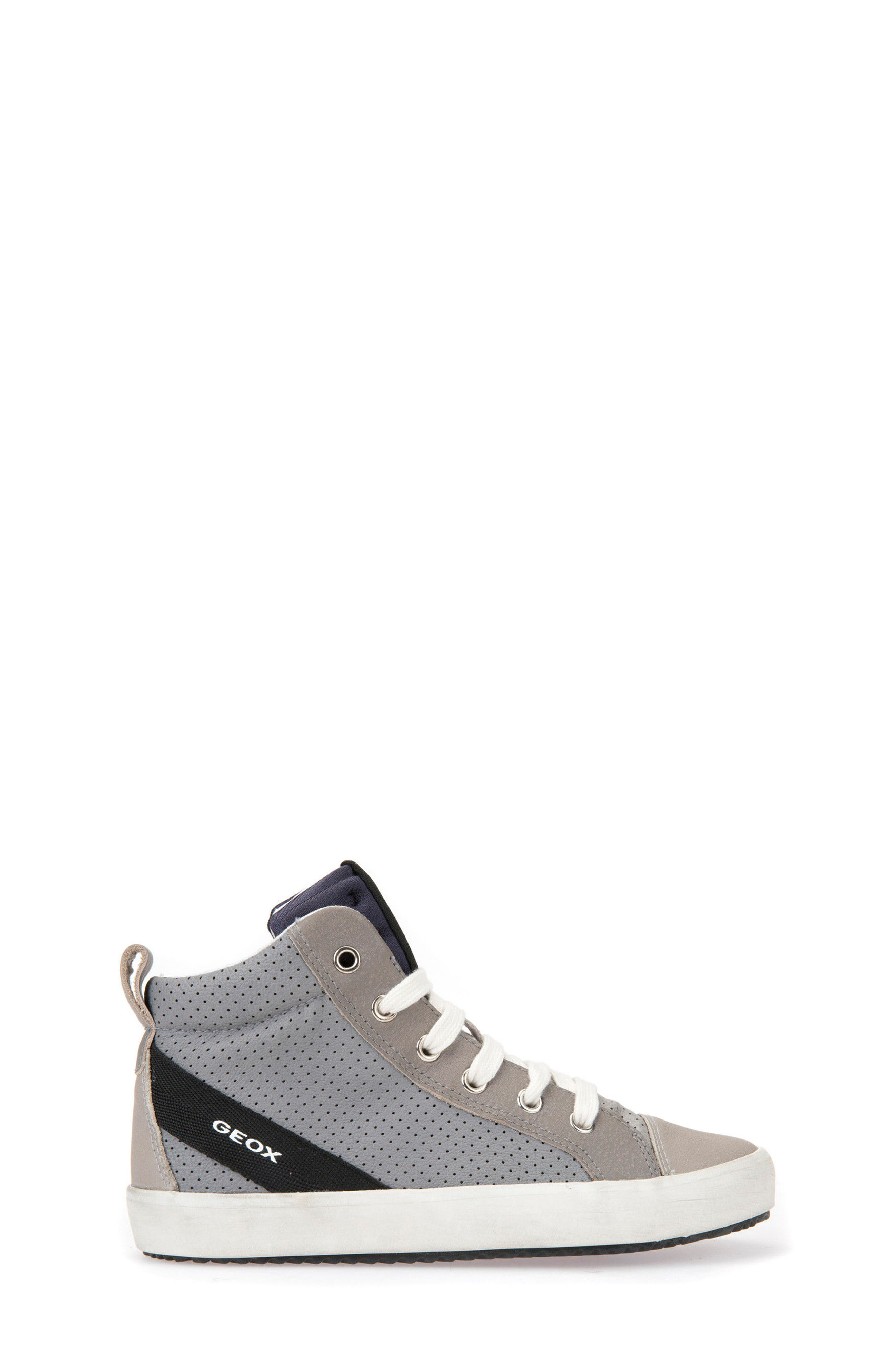 Alonisso Perforated Mid Top Sneaker,                             Alternate thumbnail 3, color,                             Grey/ Light Grey