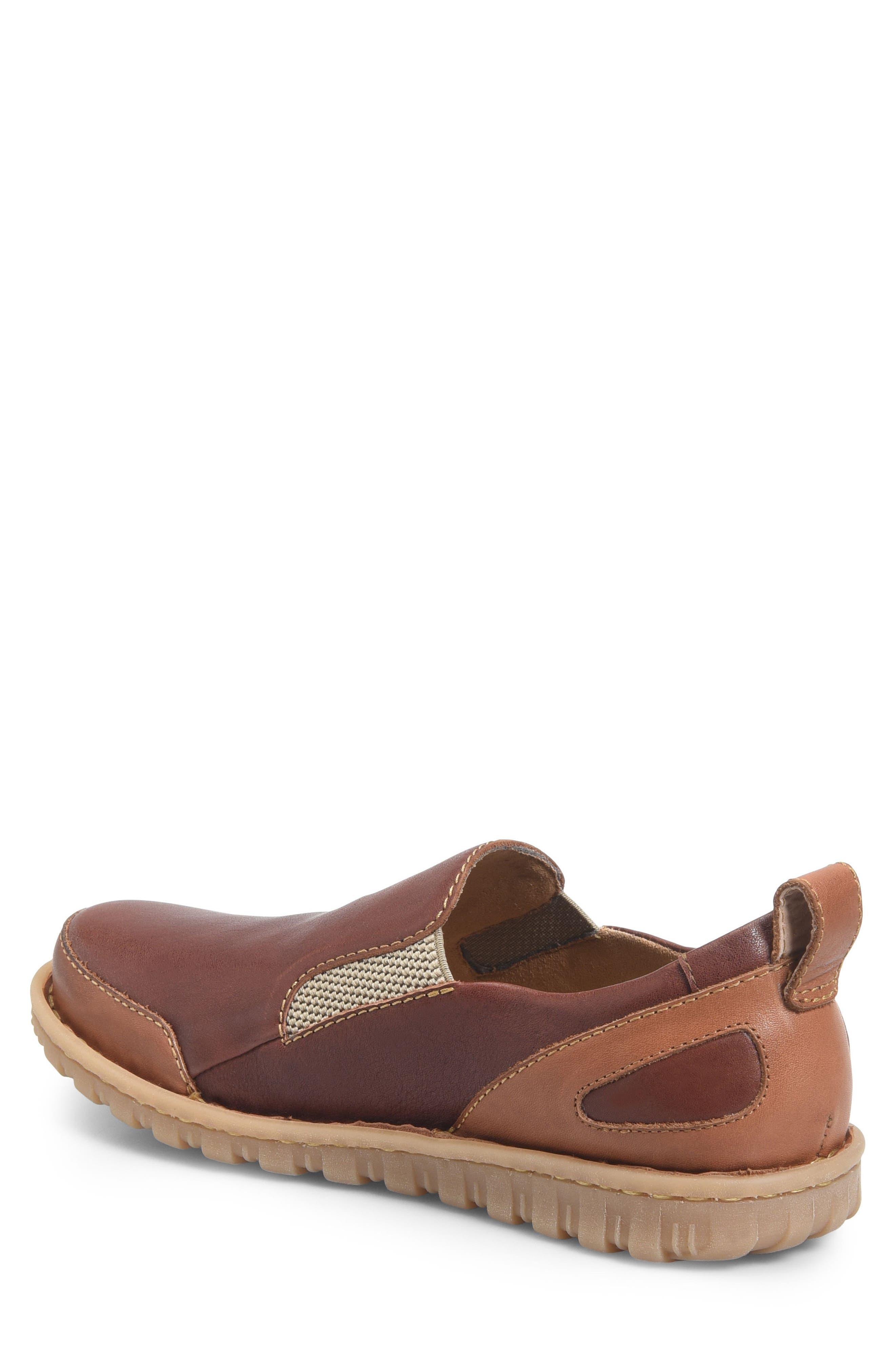 Pepper Slip-On,                             Alternate thumbnail 4, color,                             Brown/ Rust Leather