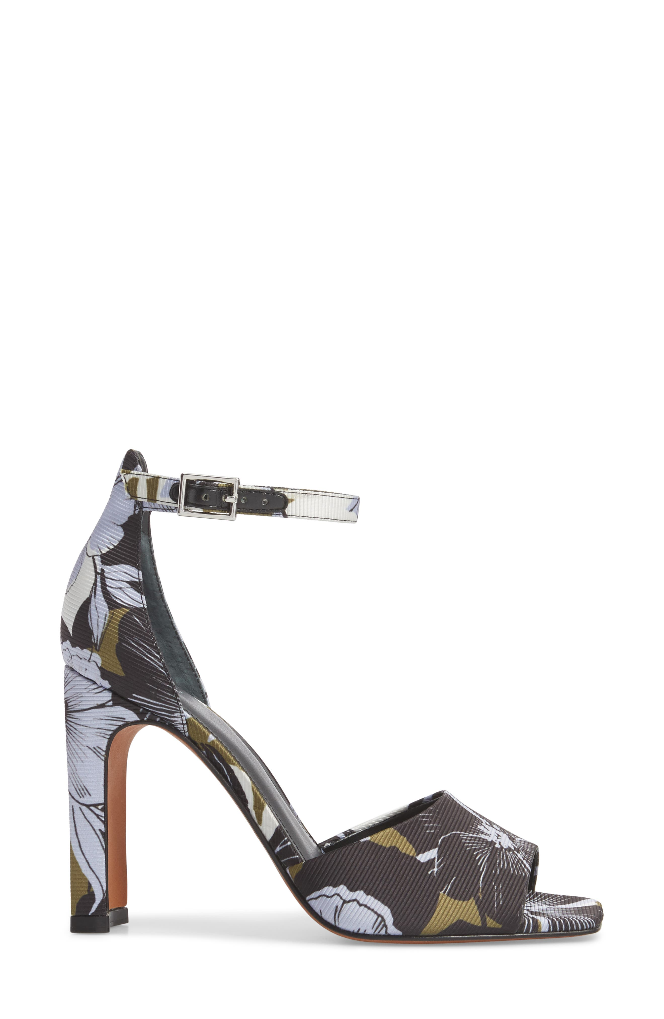 Harlin Ankle Strap Sandal,                             Alternate thumbnail 3, color,                             Jungle Print Fabric