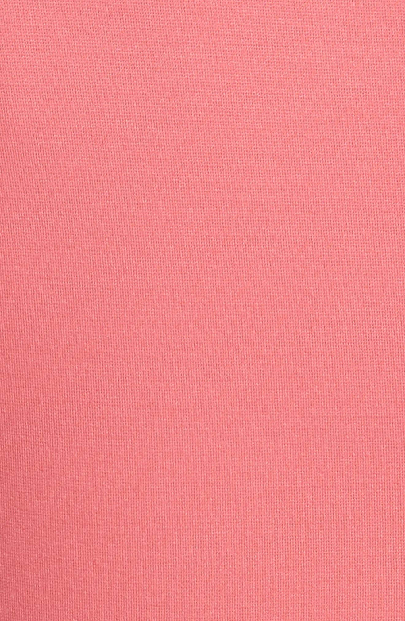 fiorella cutwork hem dress,                             Alternate thumbnail 5, color,                             Peach Sherbet