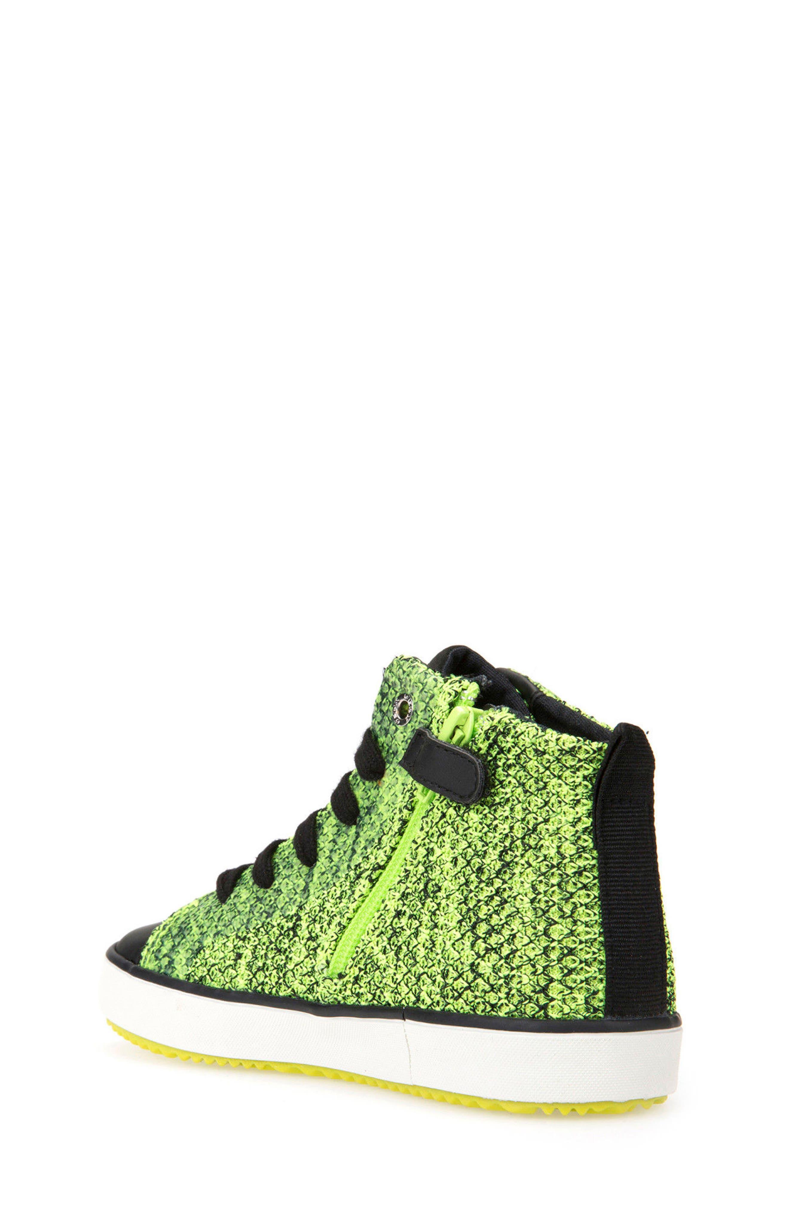 Alonisso Knit Mid Top Sneaker,                             Alternate thumbnail 2, color,                             Lime/ Black