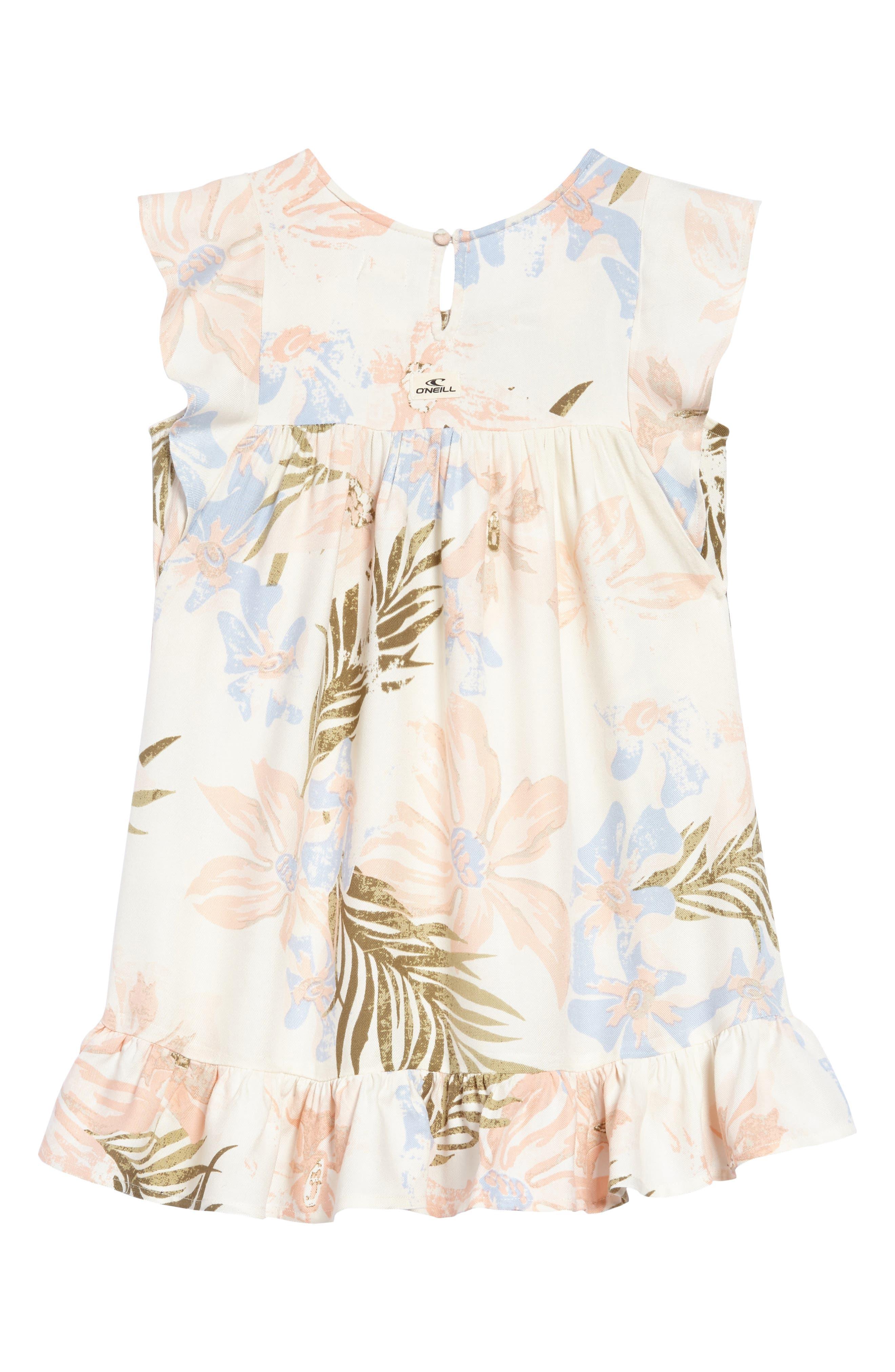Alternate Image 2  - O'Neill Britt Flutter Sleeve Dress (Toddler Girls & Little Girls)