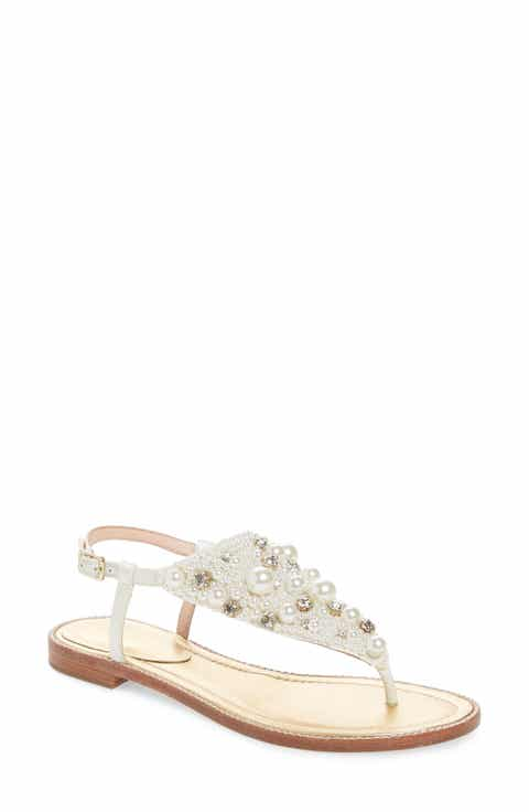 Womens kate spade new york wedding shoes nordstrom kate spade new york sama embellished thong sandal women junglespirit Image collections