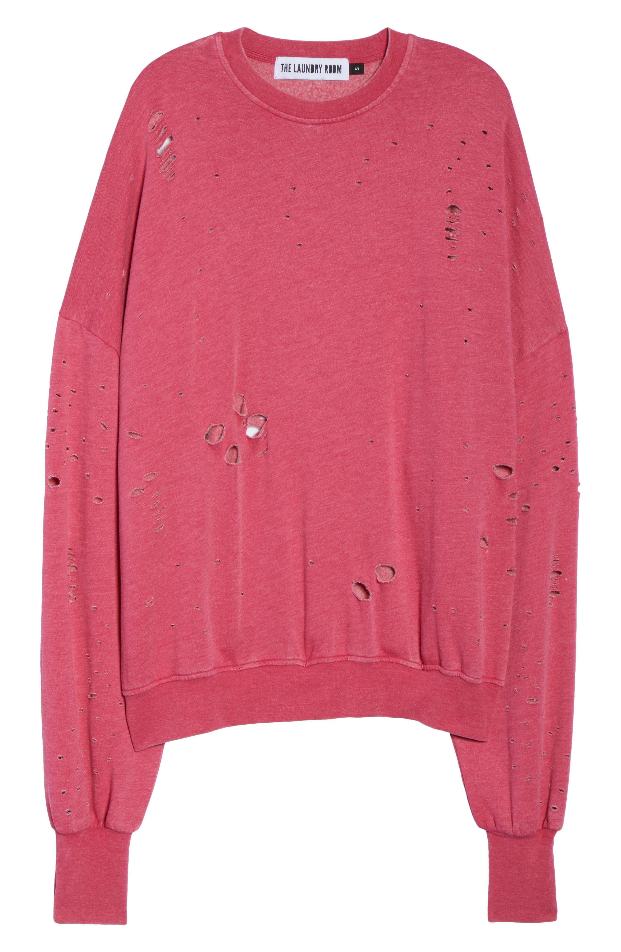 Thrasher Sweatshirt,                             Alternate thumbnail 6, color,                             Flamingo