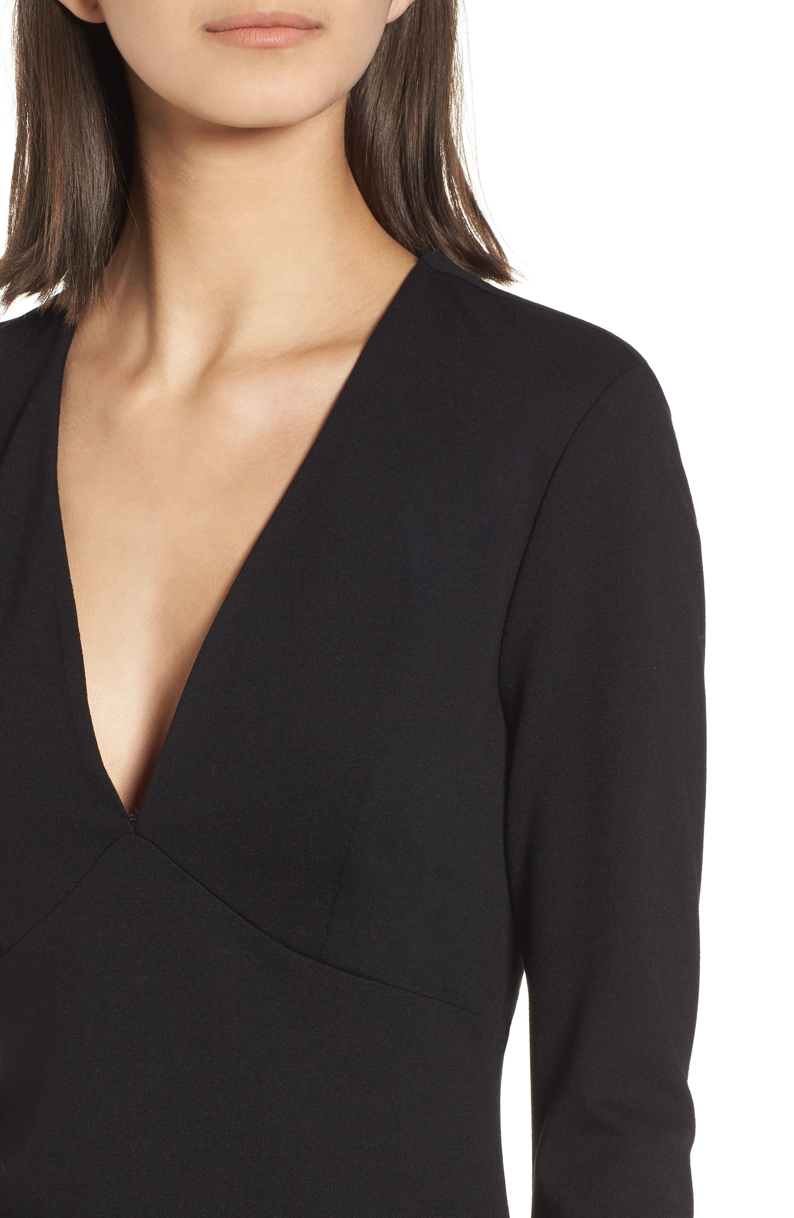 Alternate Image 4  - Leith V-Neck Body-Con Dress