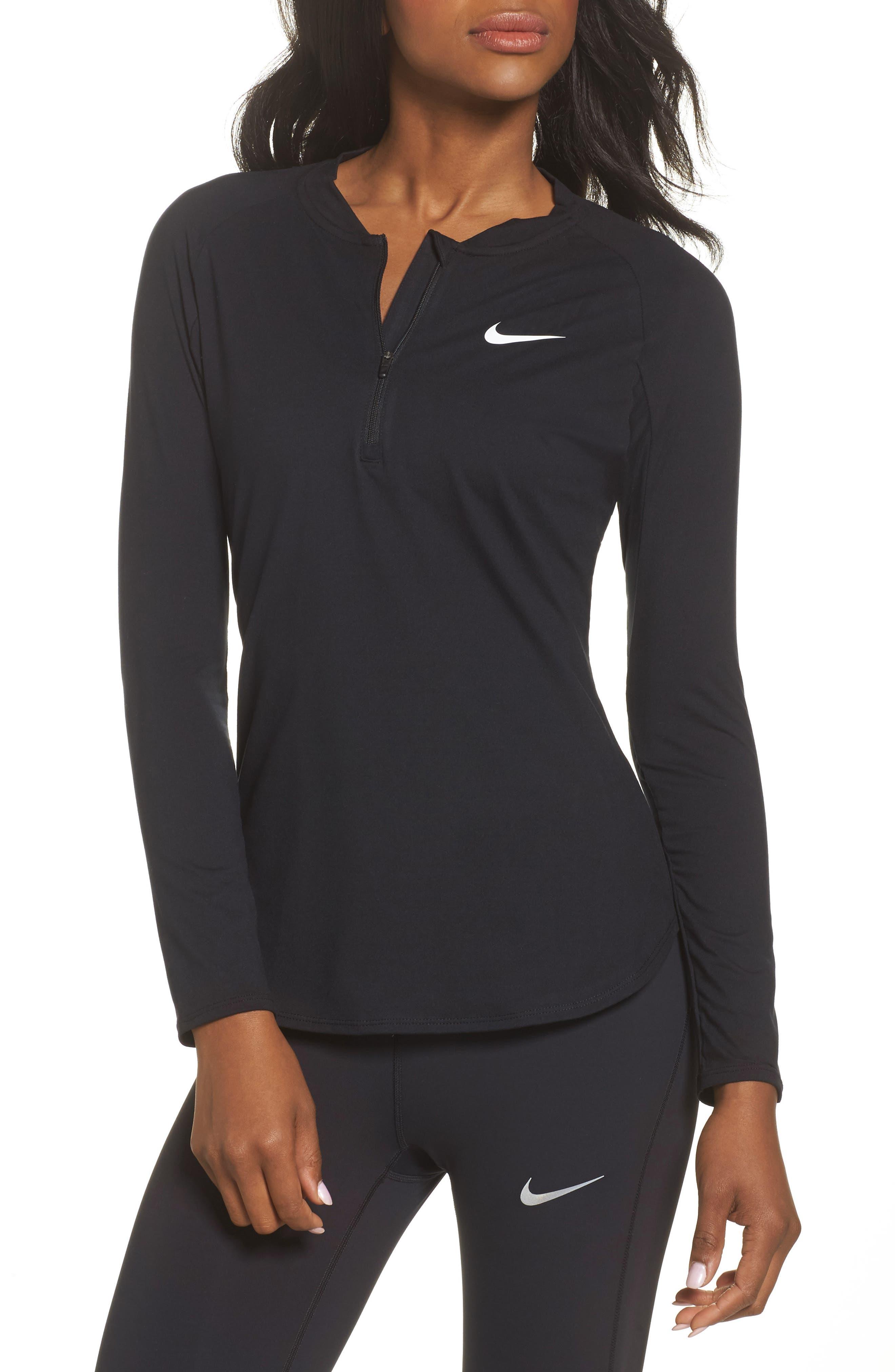 Nike Court Pure Half Zip Tennis Top