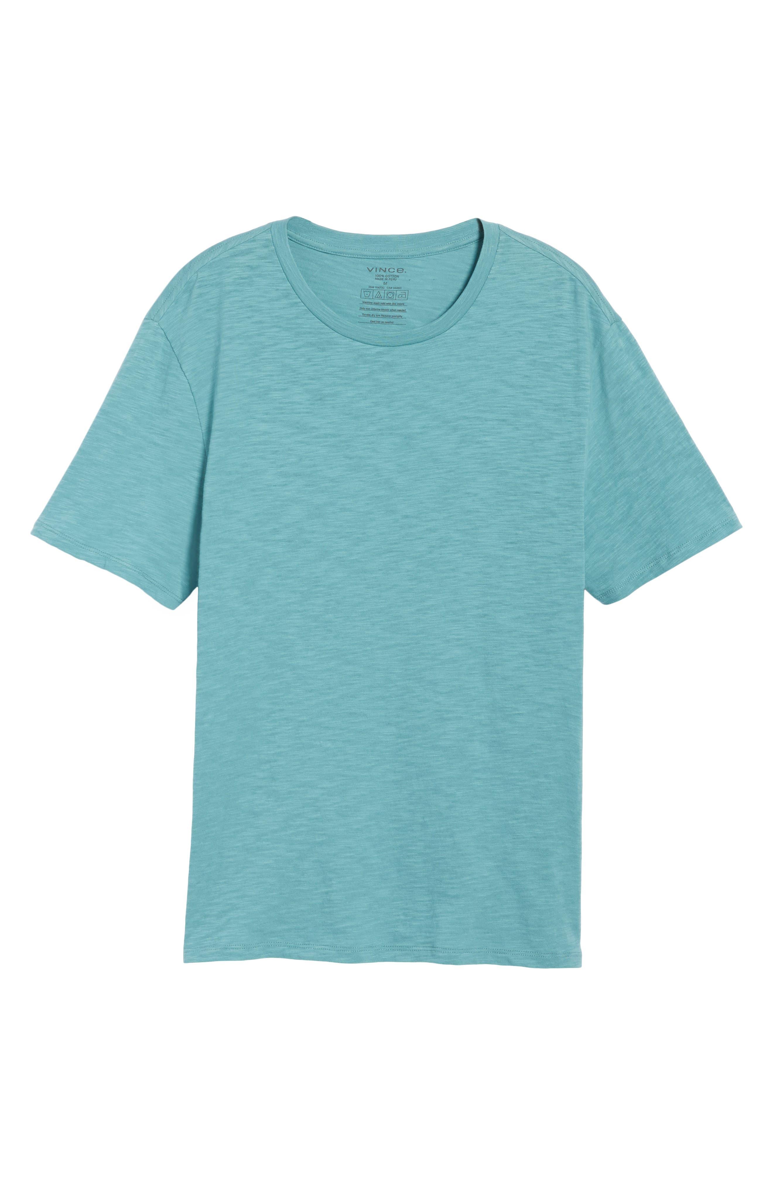 Slim Fit Slub Cotton T-Shirt,                             Alternate thumbnail 6, color,                             Harbor