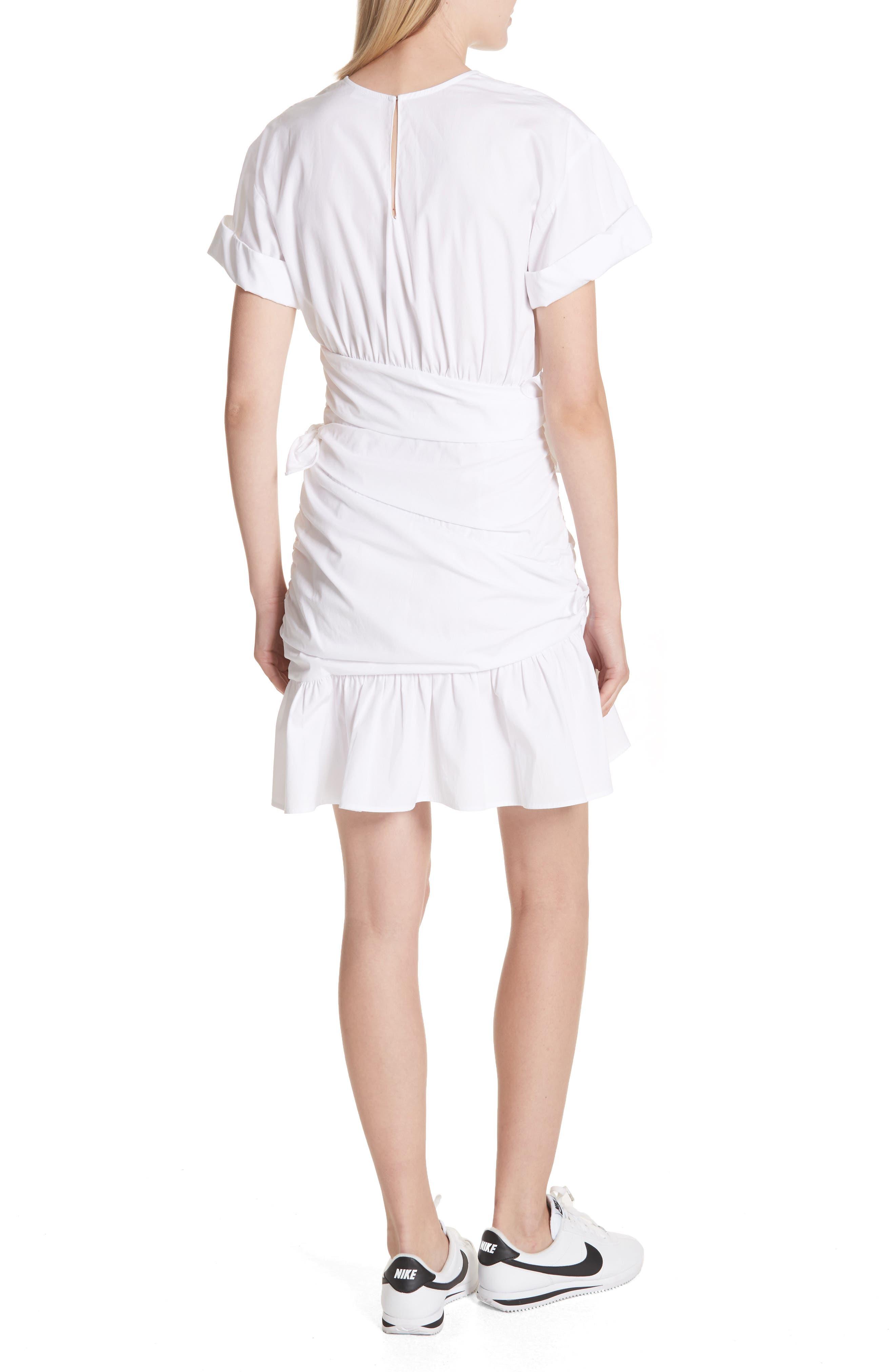 Cassian Cotton Dress,                             Alternate thumbnail 2, color,                             White
