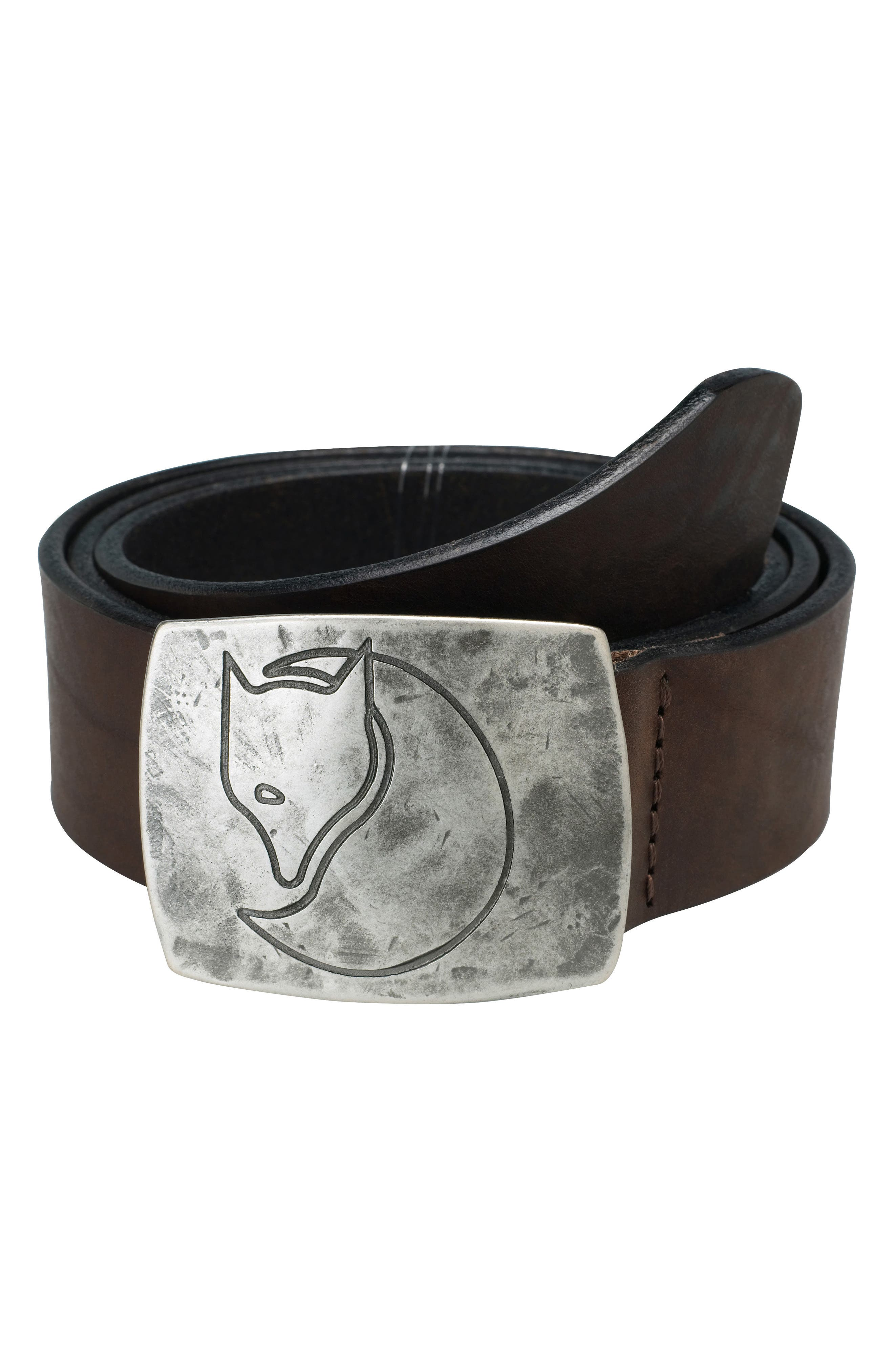 Murena Leather Belt,                         Main,                         color, Leather Brown