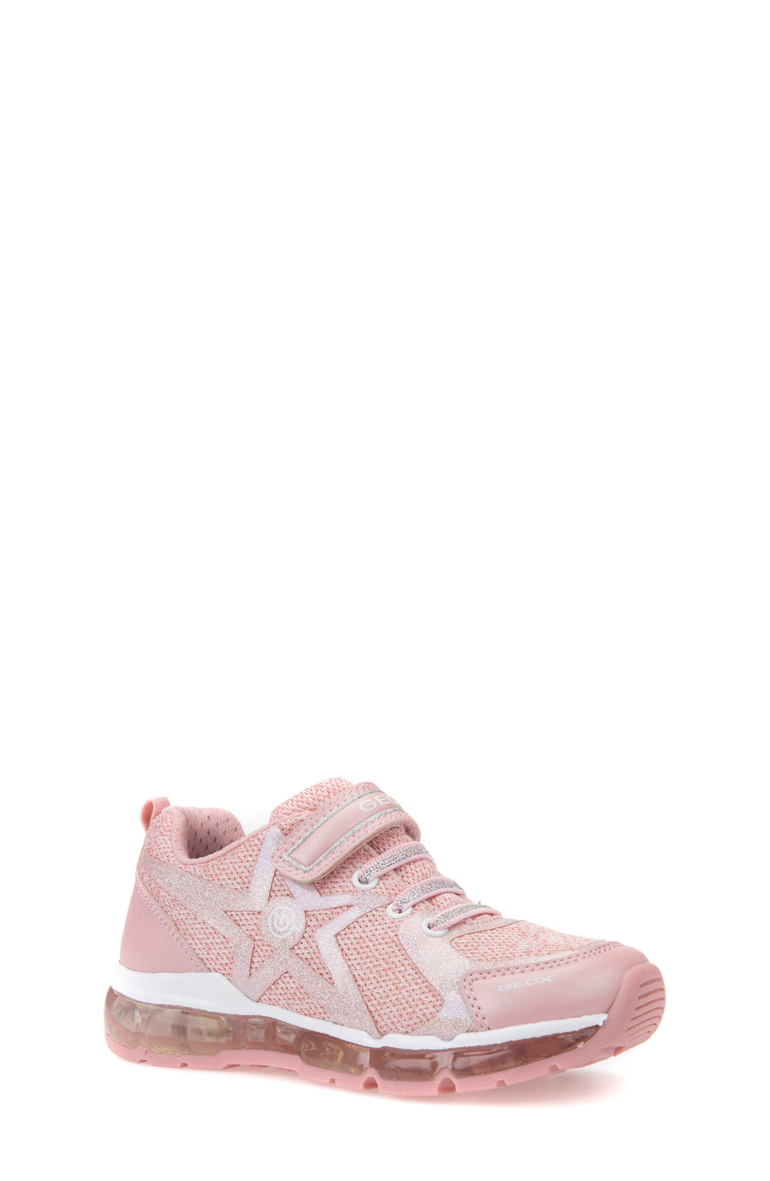 Android Light-Up Sneaker,                             Main thumbnail 1, color,                             Rose/ White