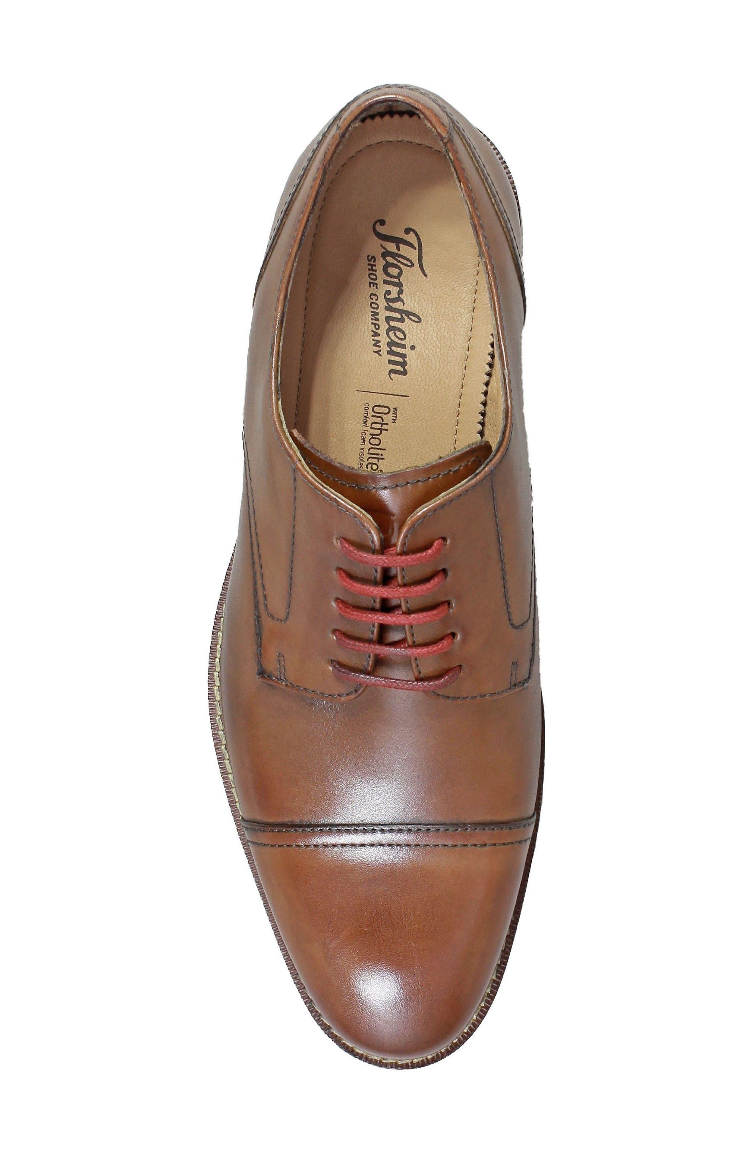 Salerno Wingtip,                             Alternate thumbnail 5, color,                             Cognac Leather