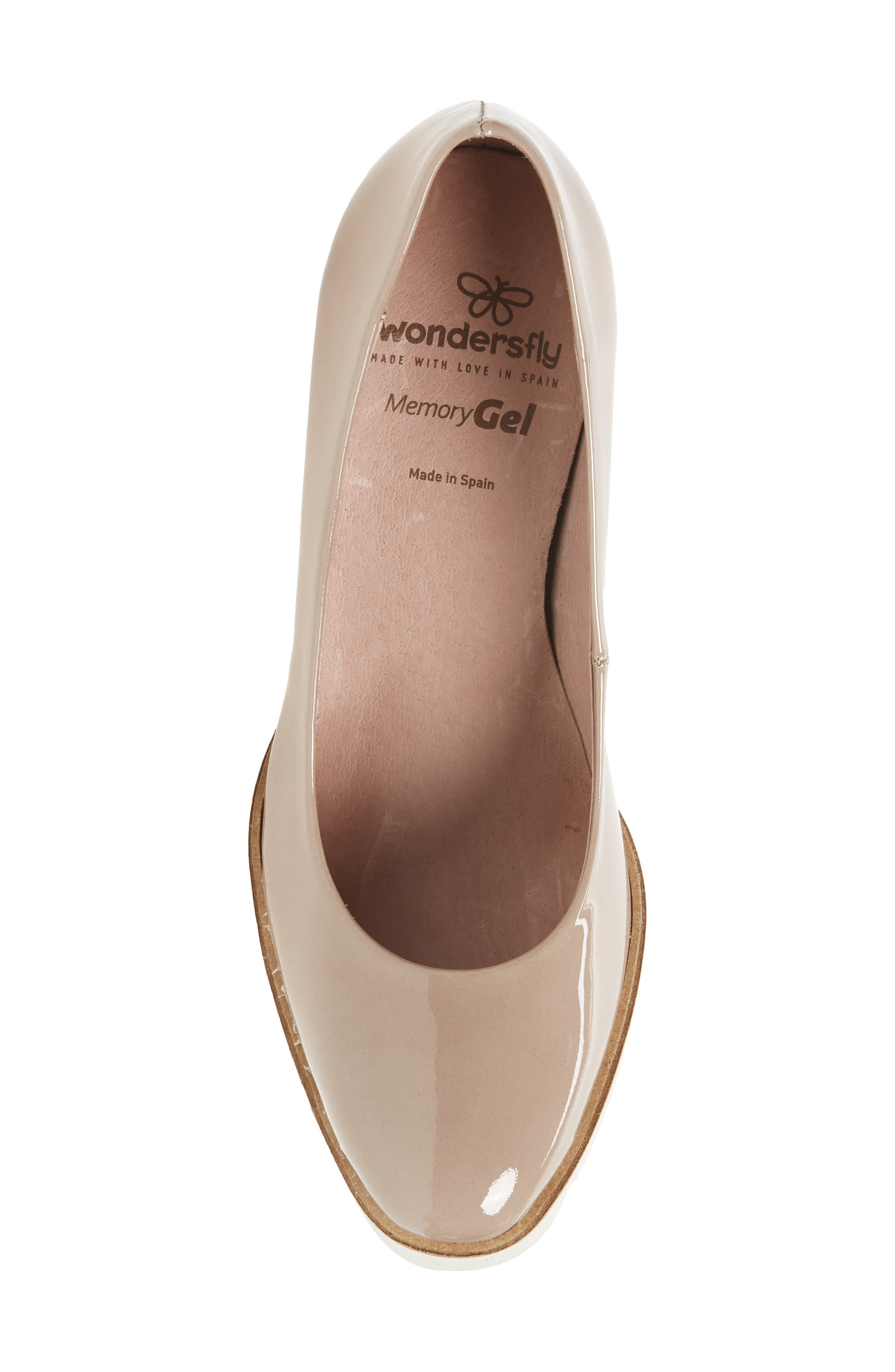 Almond Toe Pump,                             Alternate thumbnail 5, color,                             Taupe Leather