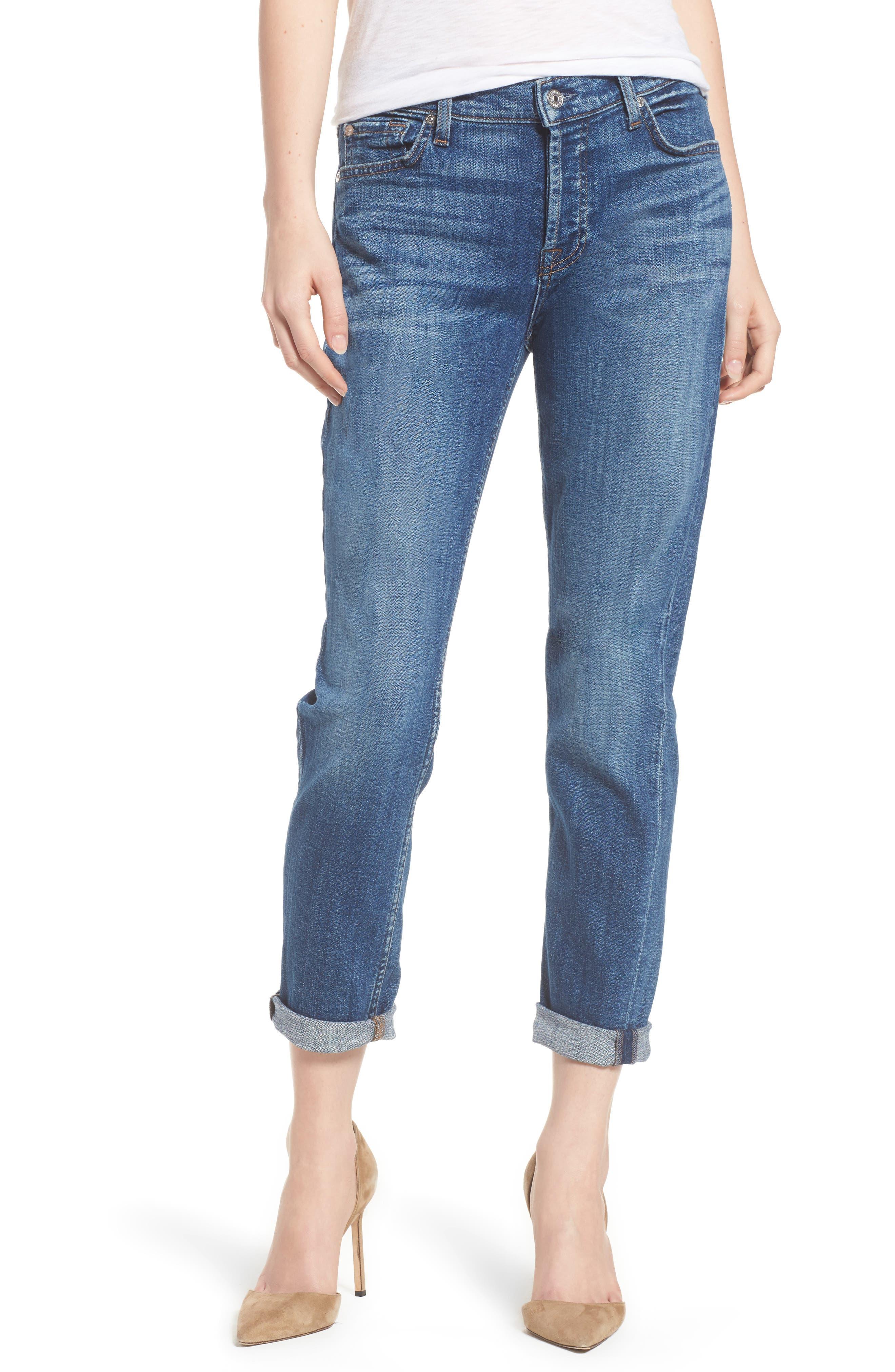 7 For All Mankind® Josefina Boyfriend Jeans (Broken Twill Desert Trails)