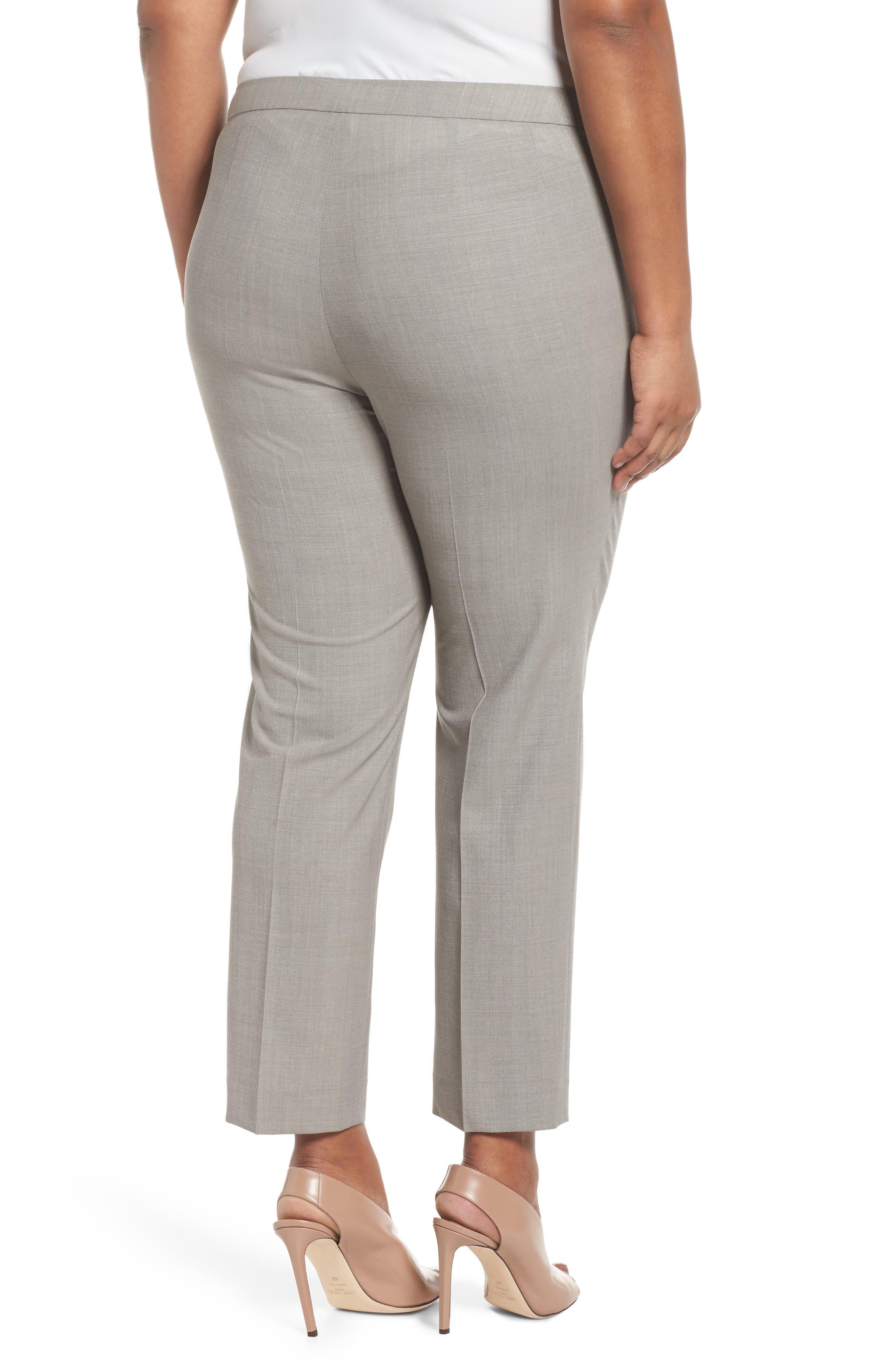 Bleecker Stretch Wool Suit Pants,                             Alternate thumbnail 2, color,                             Feather Grey Melange