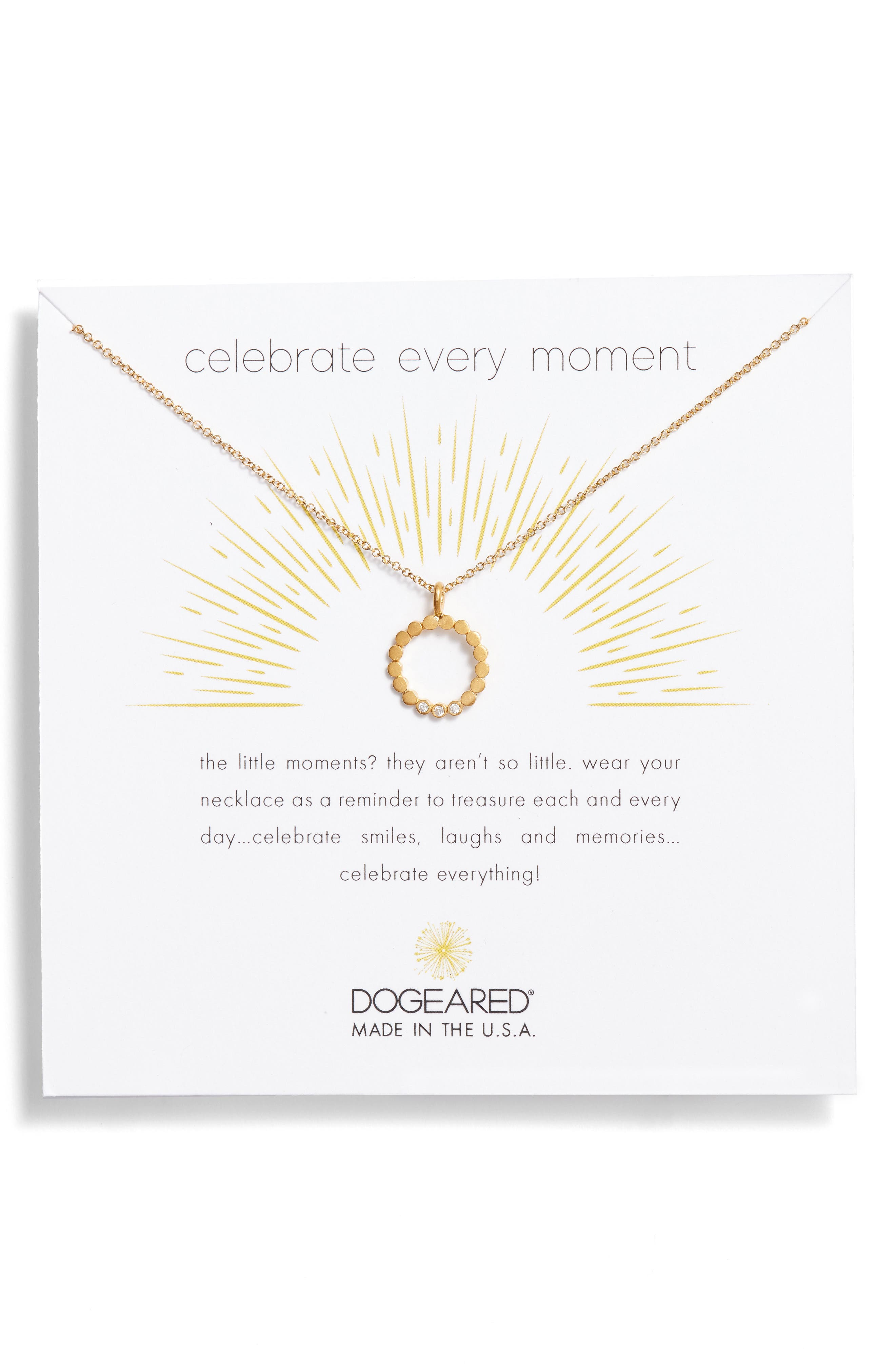 Celebrate Every Moment Pendant Necklace,                         Main,                         color, Gold