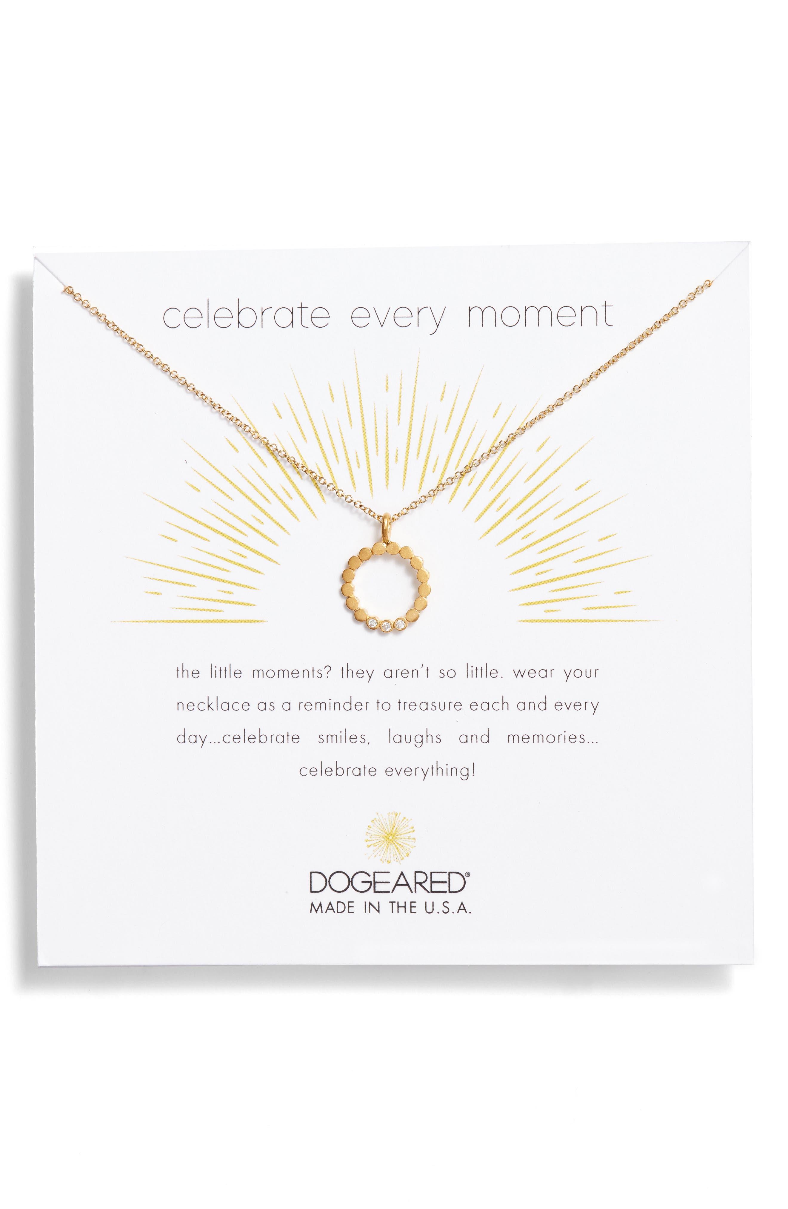 Dogeared Celebrate Every Moment Pendant Necklace