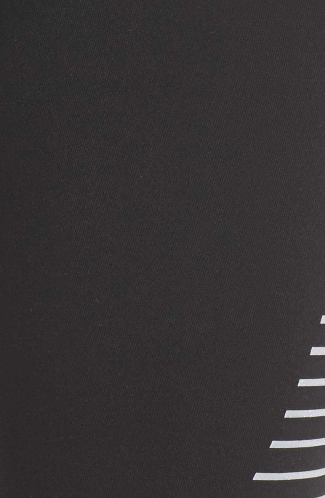 'Airbrushed' Leggings,                             Alternate thumbnail 4, color,                             Black Reflector