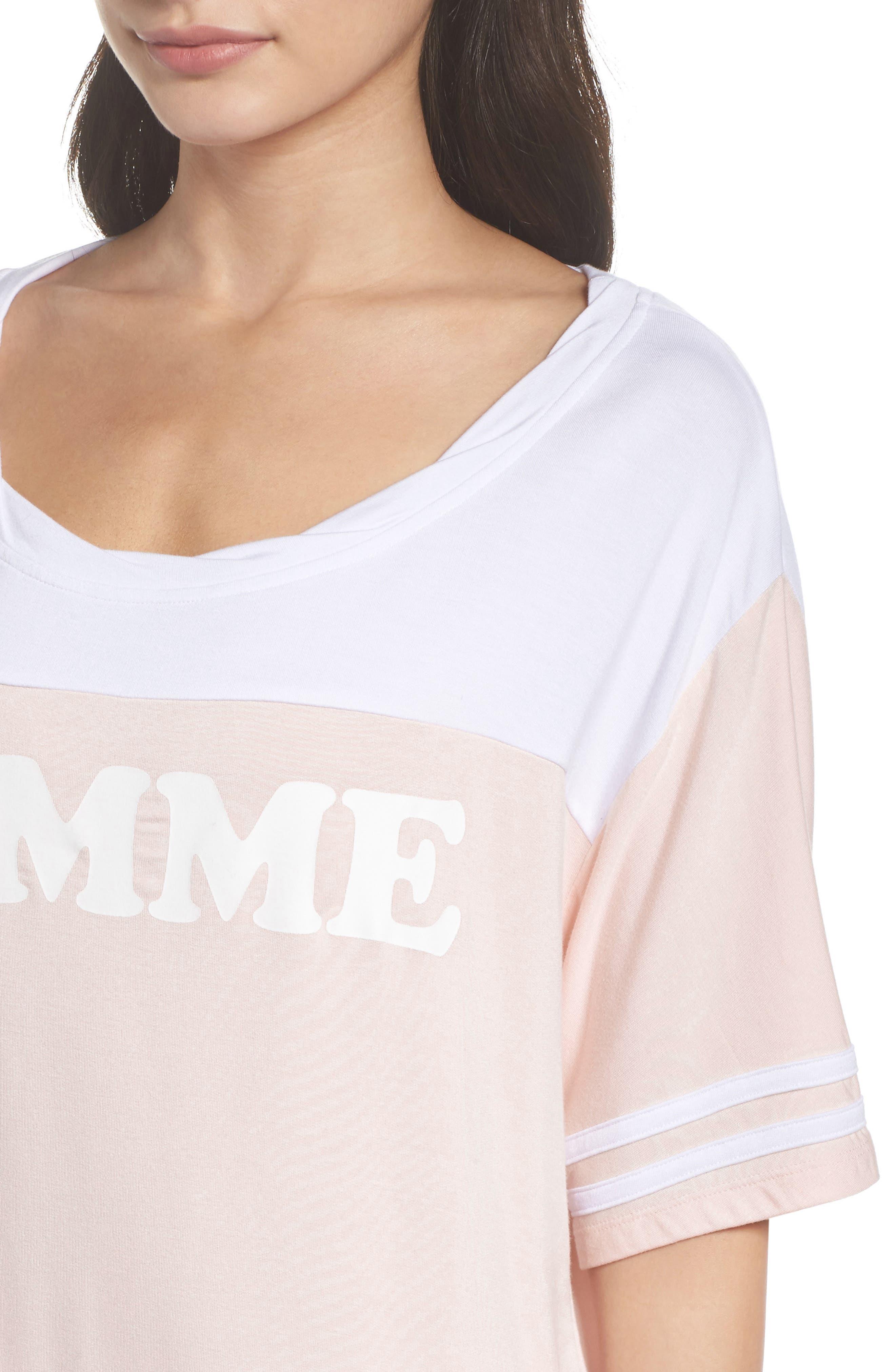 Team Femme Baggy Tee,                             Alternate thumbnail 6, color,                             Shell/ White